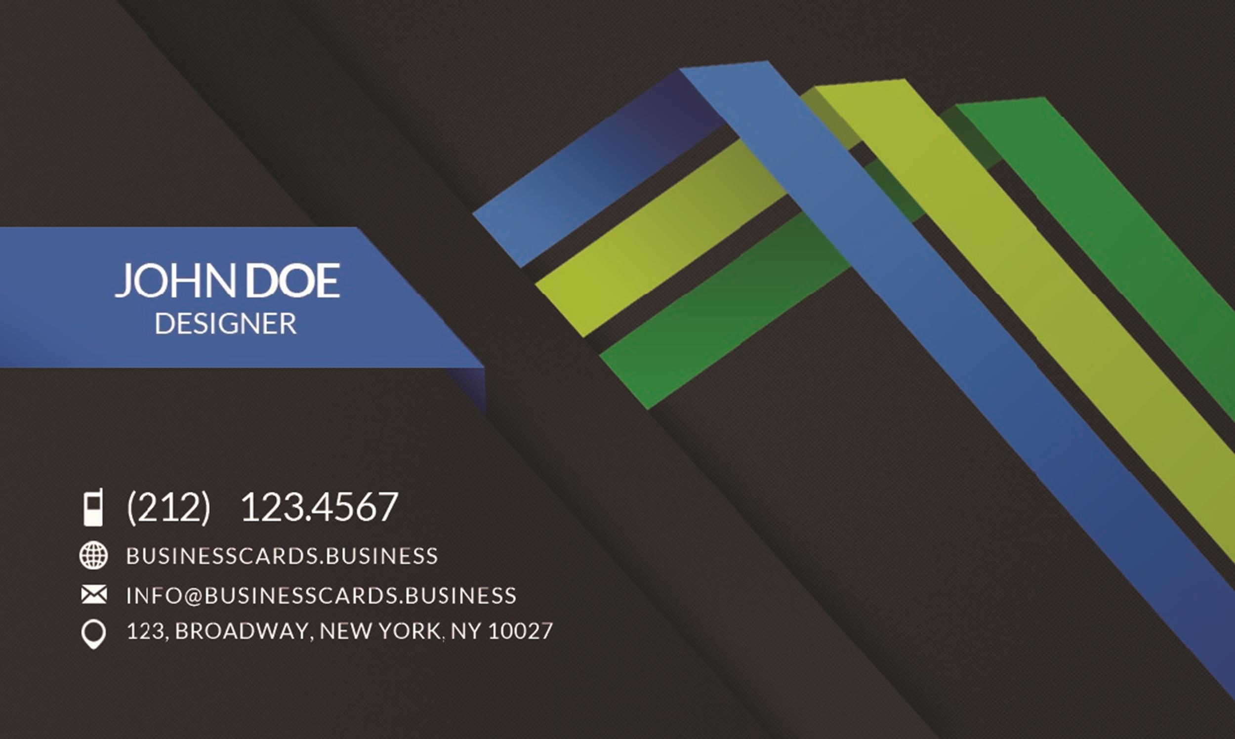 Free business card template 36