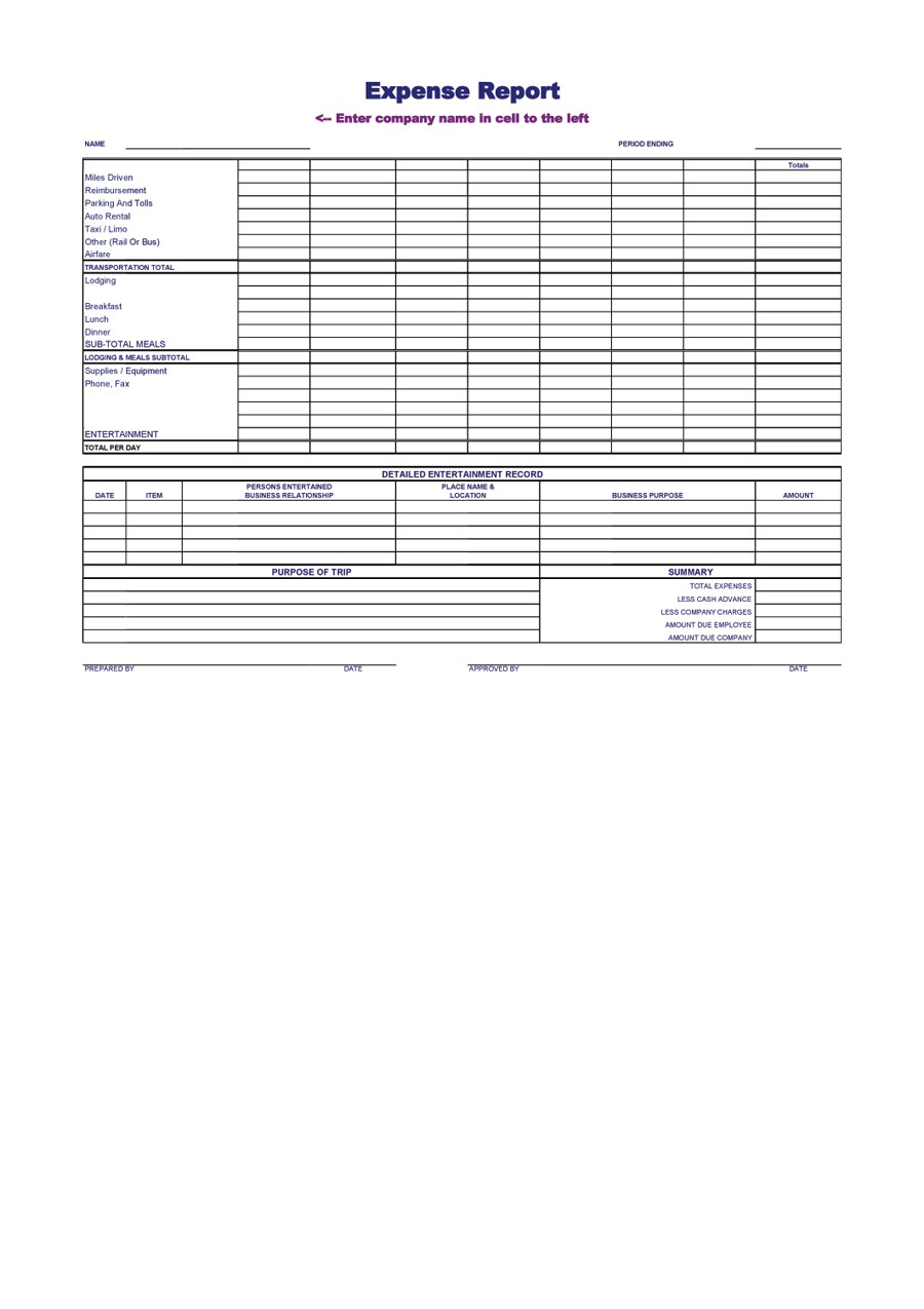 Free expense report template 26