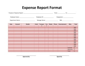 expense report template 29