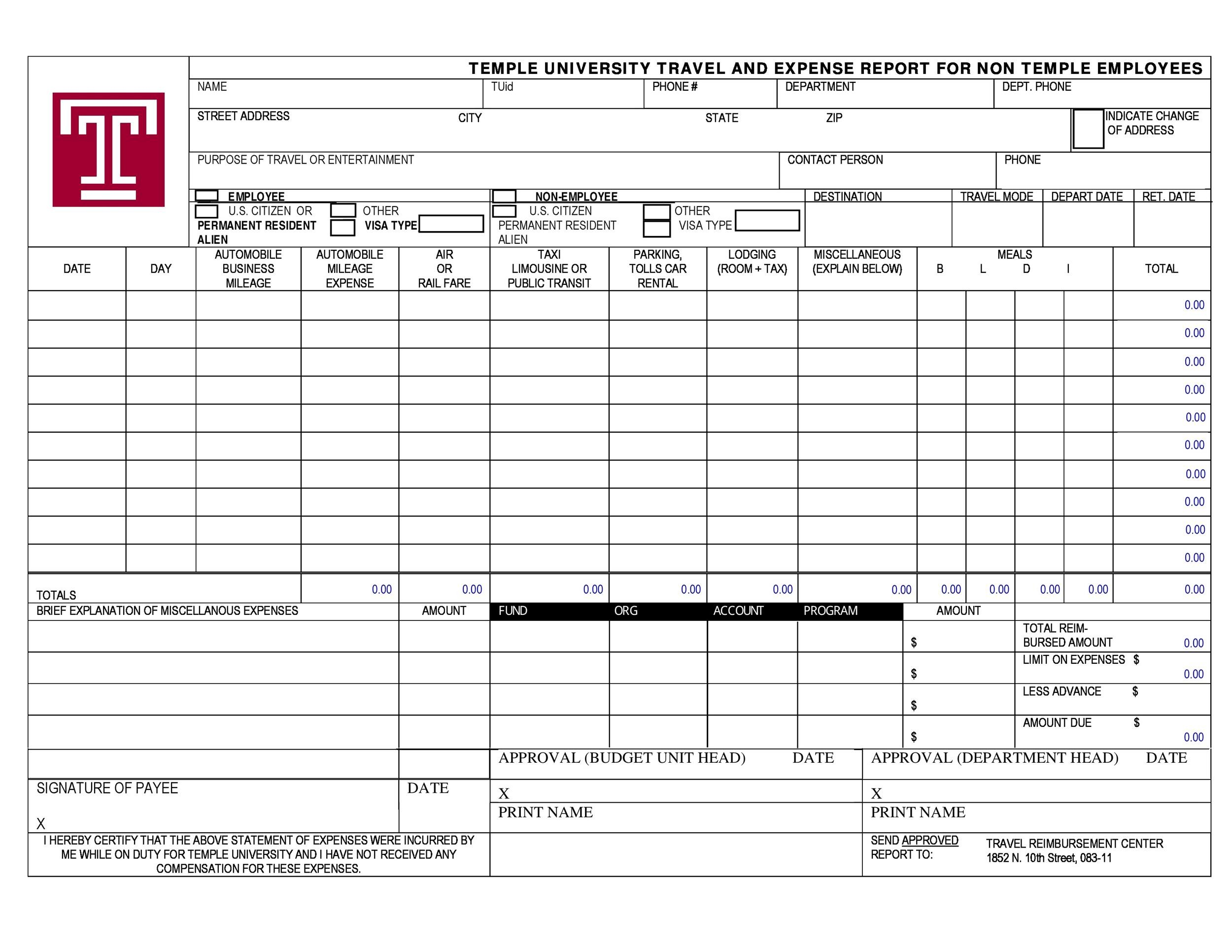 Free expense report template 41