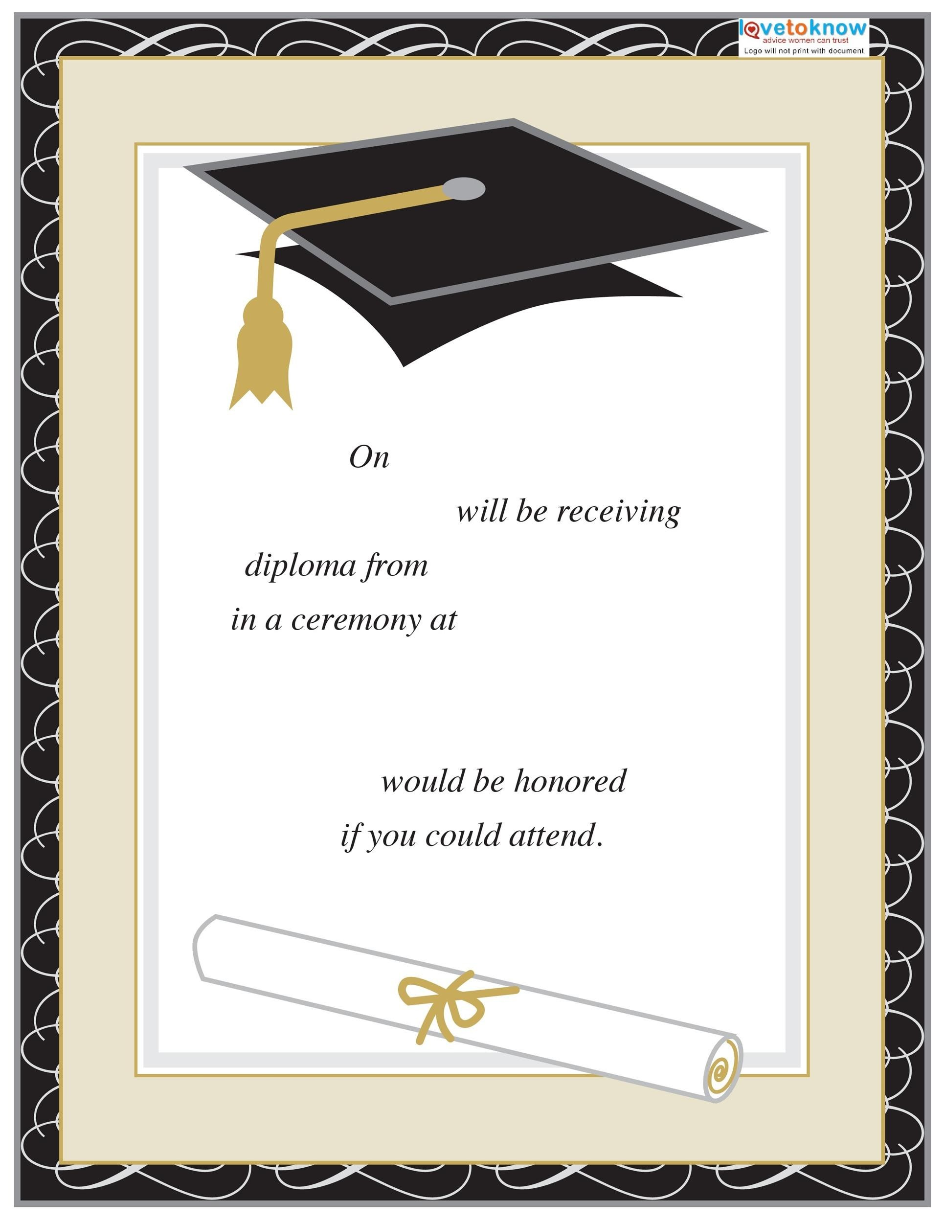 photograph regarding Graduation Cards Printable referred to as 40+ Free of charge Commencement Invitation Templates ᐅ Template Lab