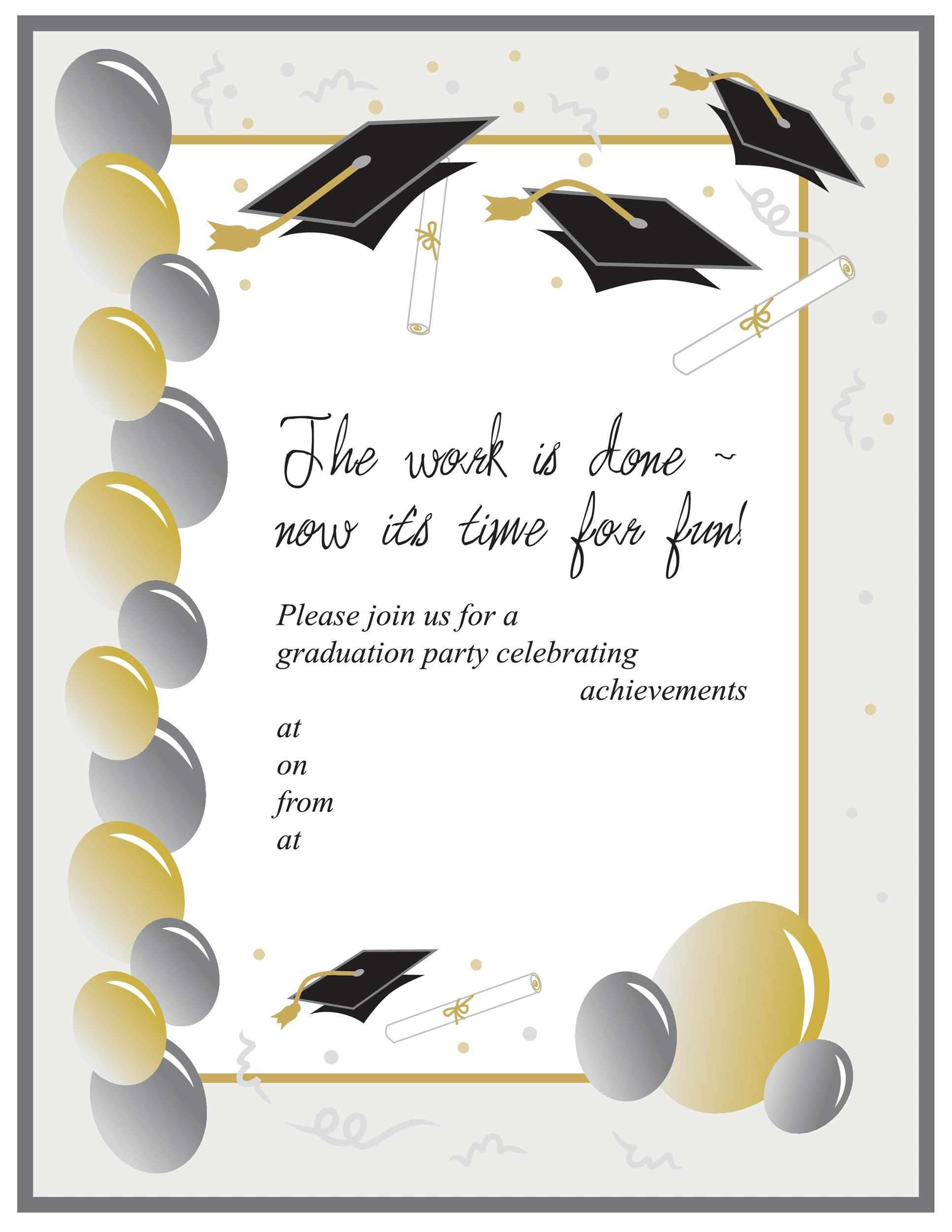 Gorgeous image in free printable graduation invitation templates