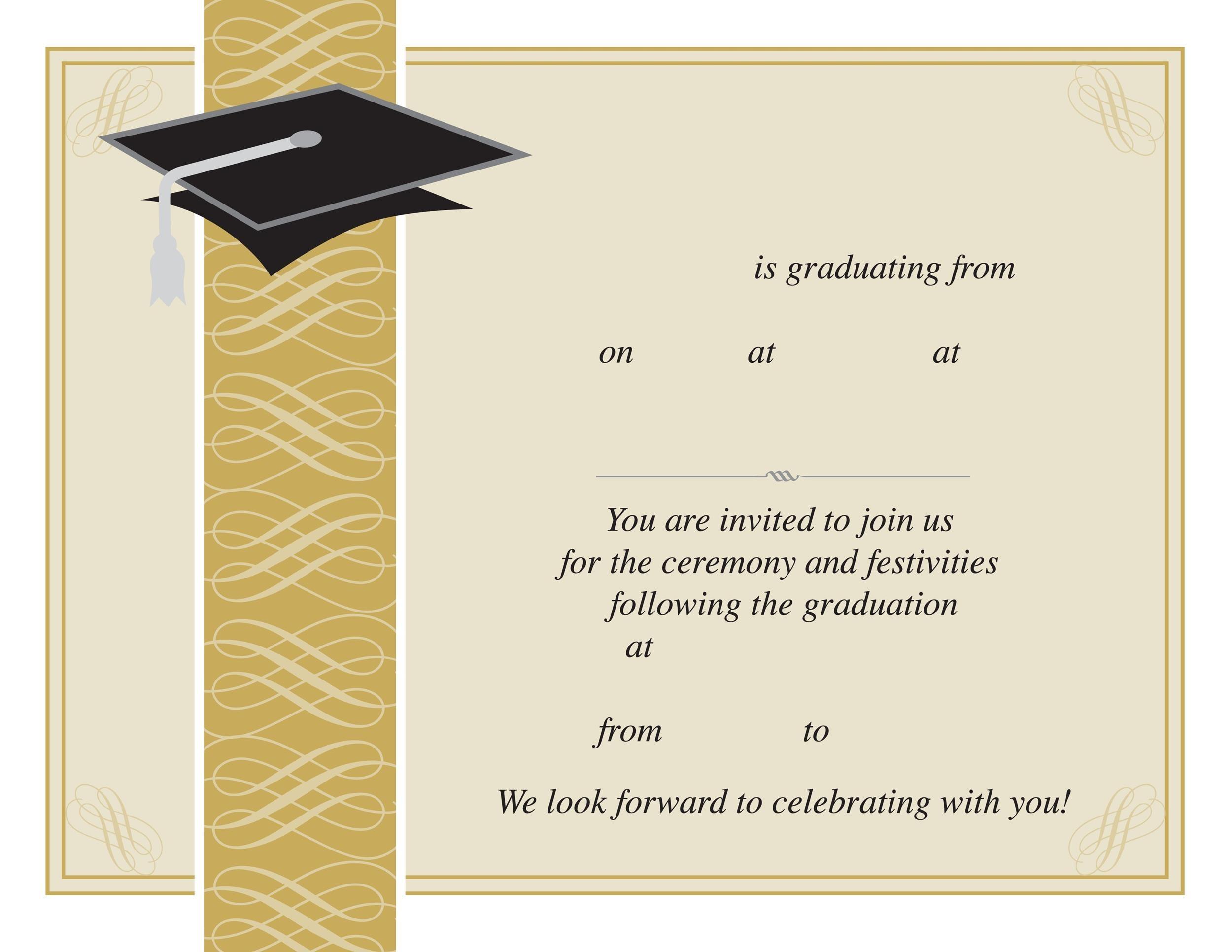Free Graduation Invitation Templates 03