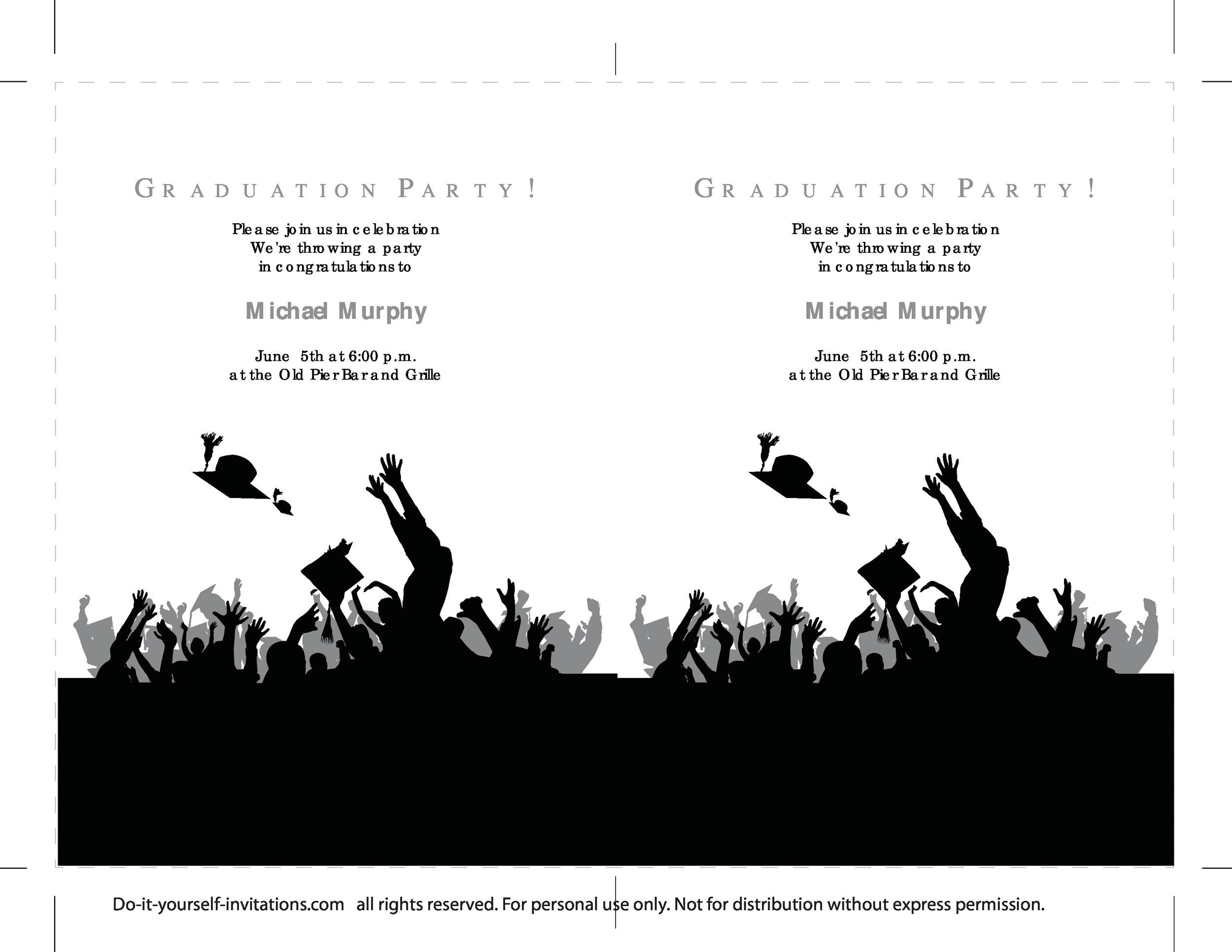 free graduation invitation templates 08 printable graduation invitation templates 08