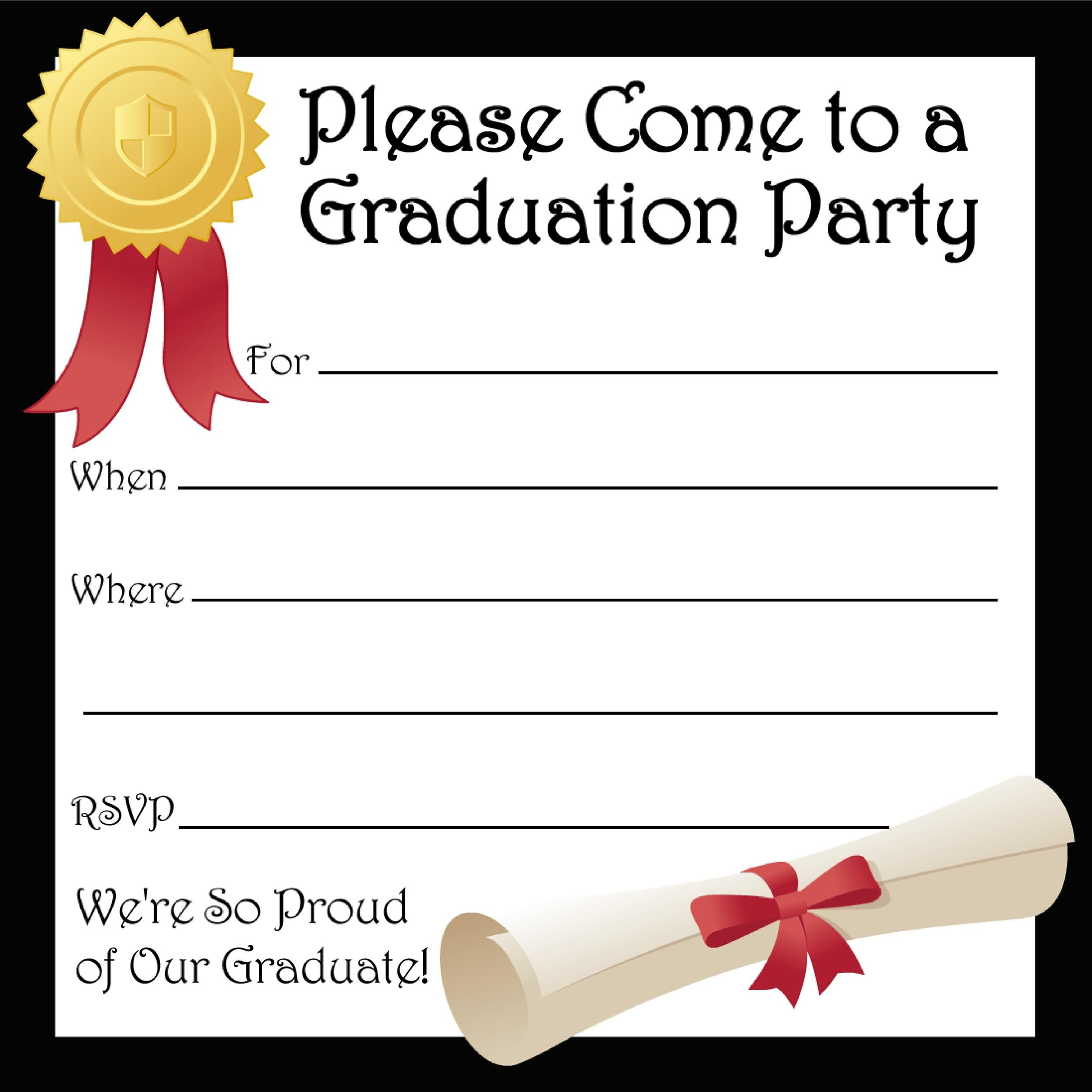 Create Invitation Template: 40+ FREE Graduation Invitation Templates ᐅ Template Lab