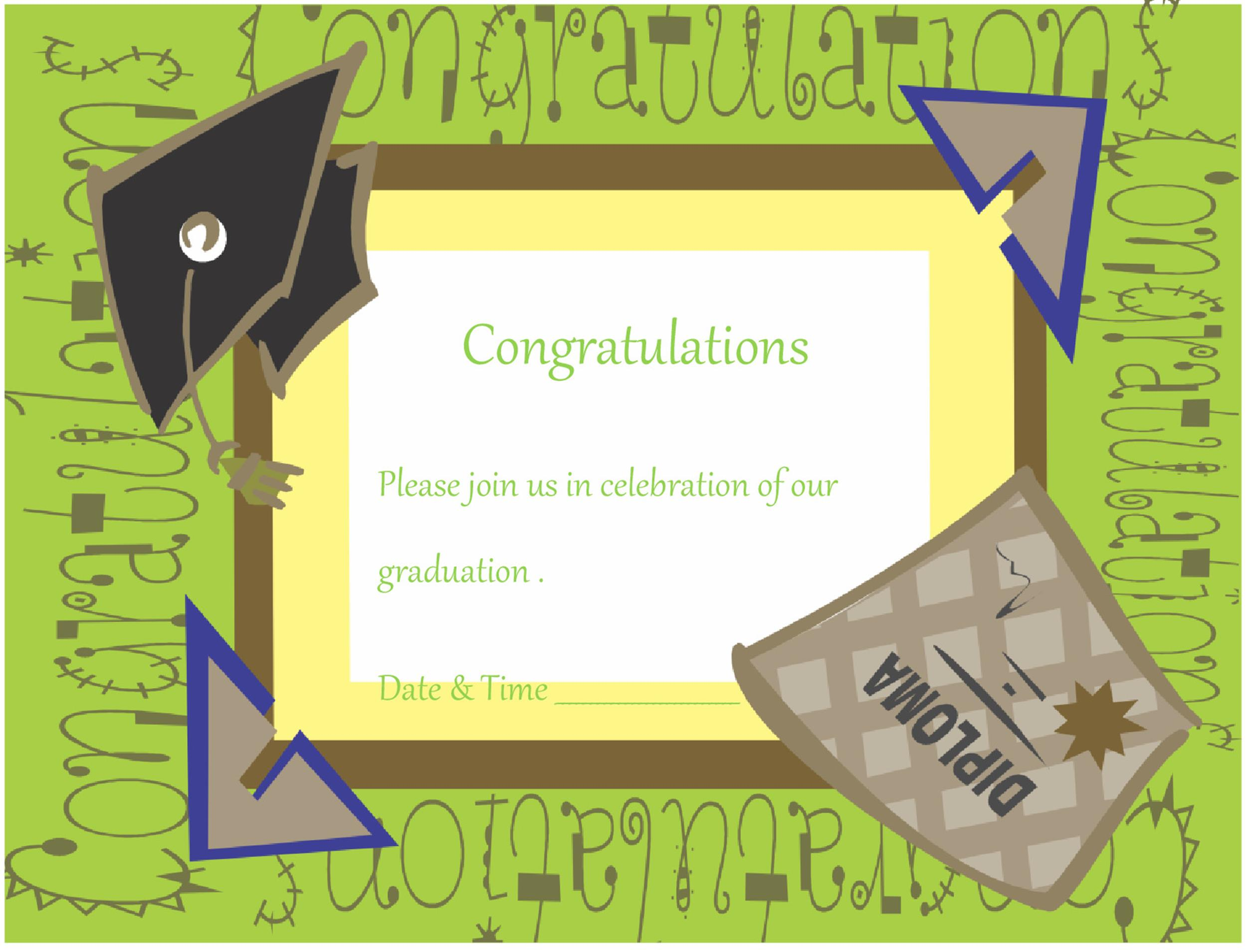 Free Graduation Invitation Templates 13