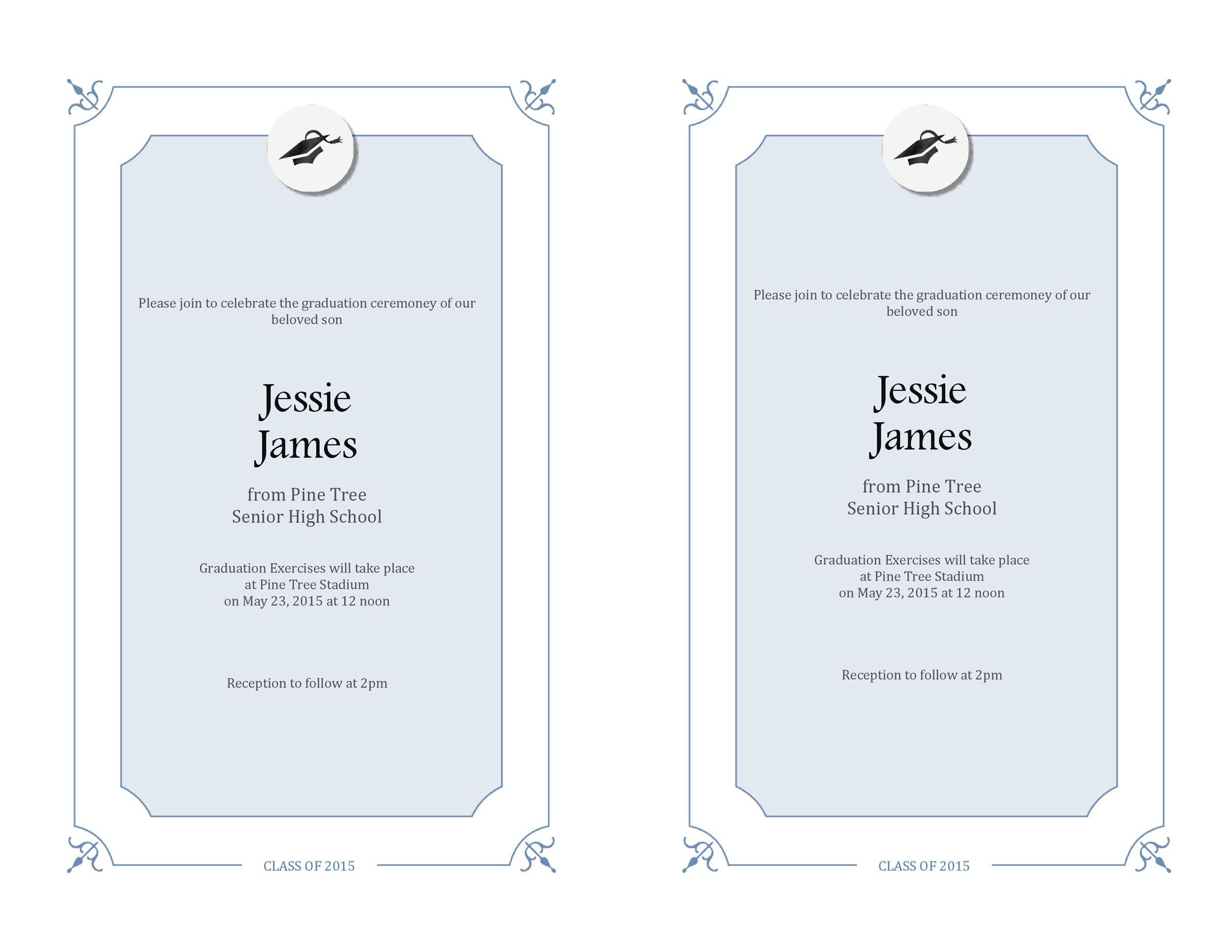 Free Graduation Invitation Templates 14