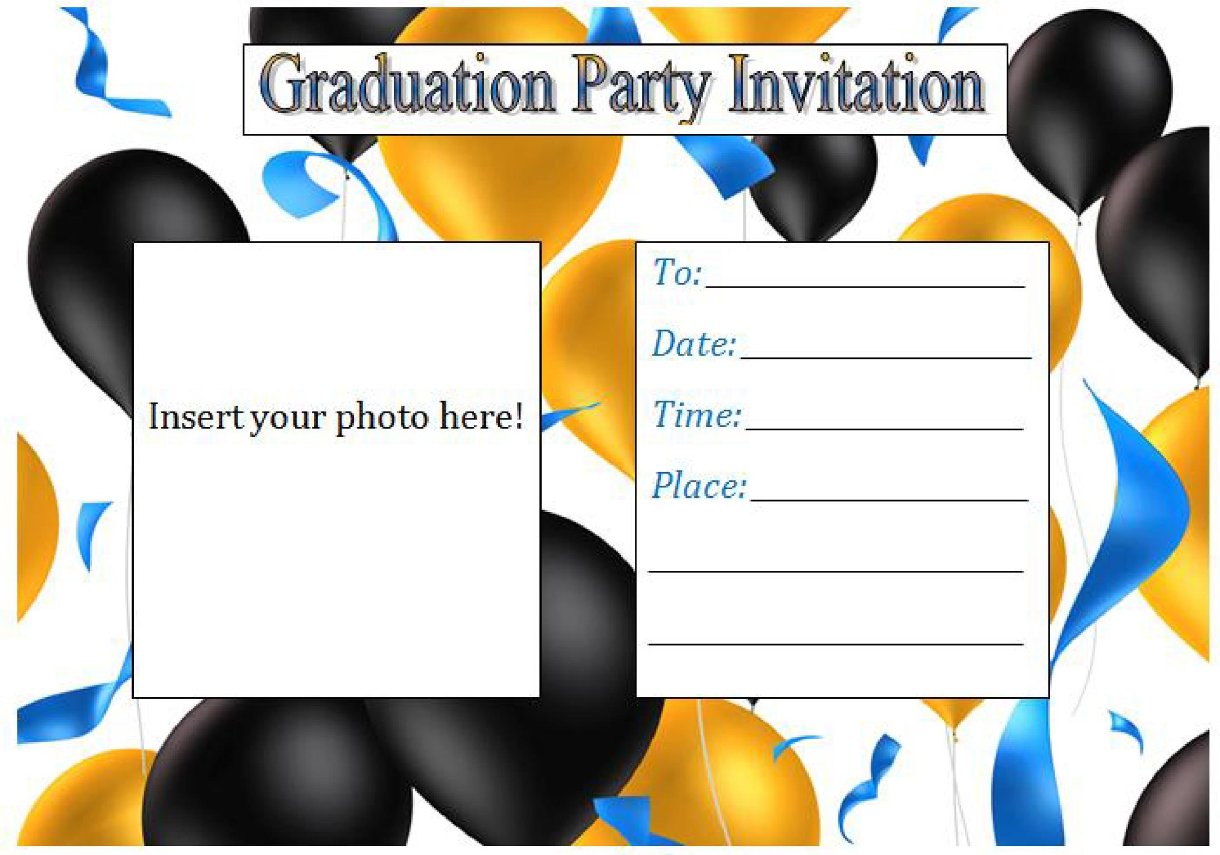 Graduation Party Invitation Templates Gangcraftnet - Party invitation template: graduation party invitation postcard templates free