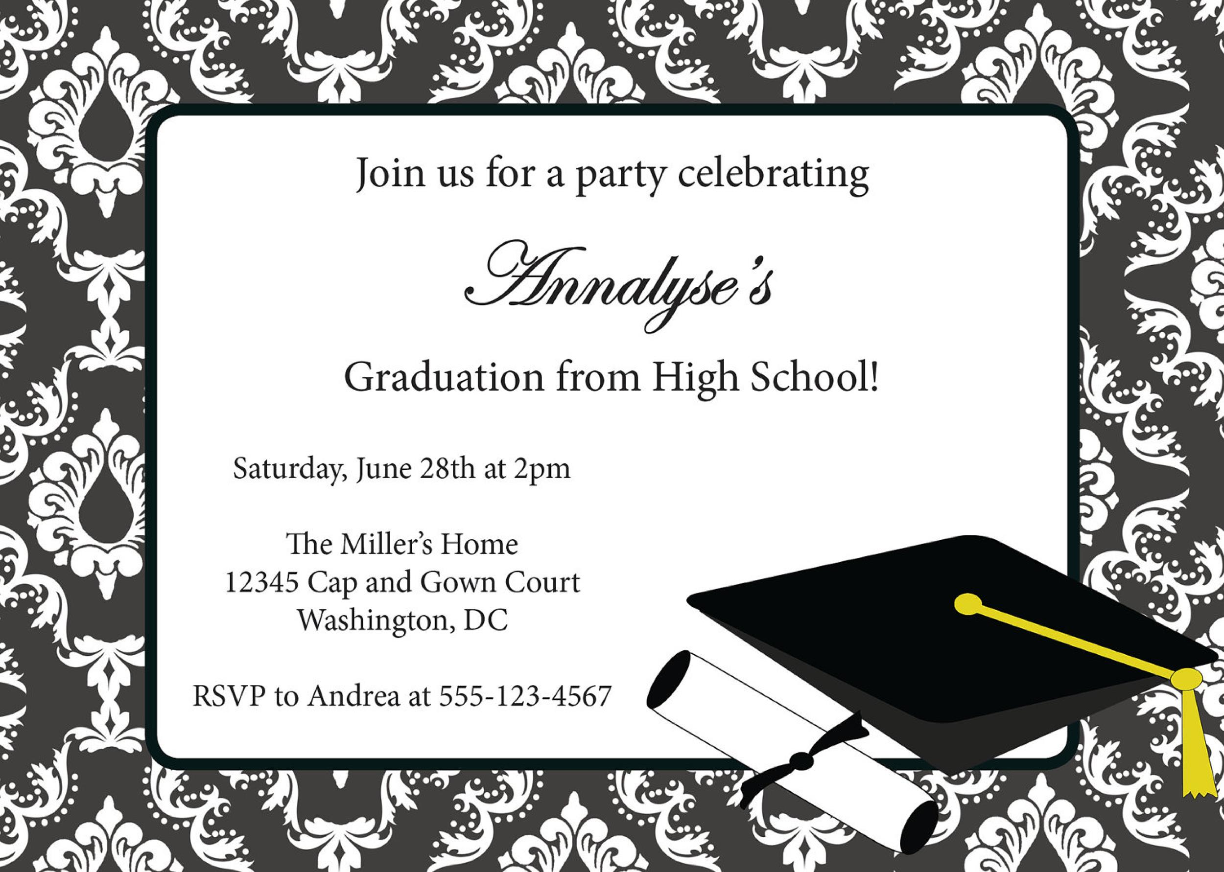 Modest image intended for free printable graduation invitation templates