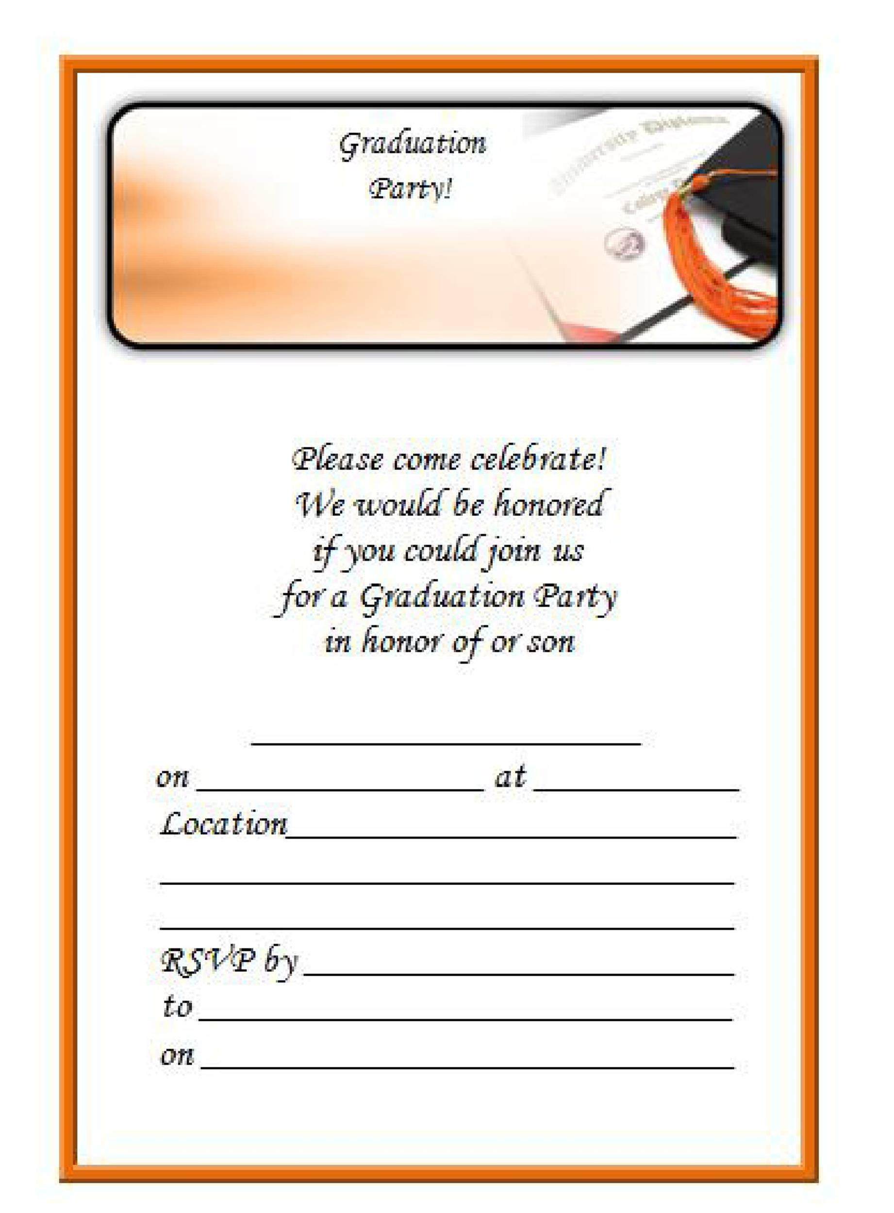 40 free graduation invitation templates template lab. Black Bedroom Furniture Sets. Home Design Ideas