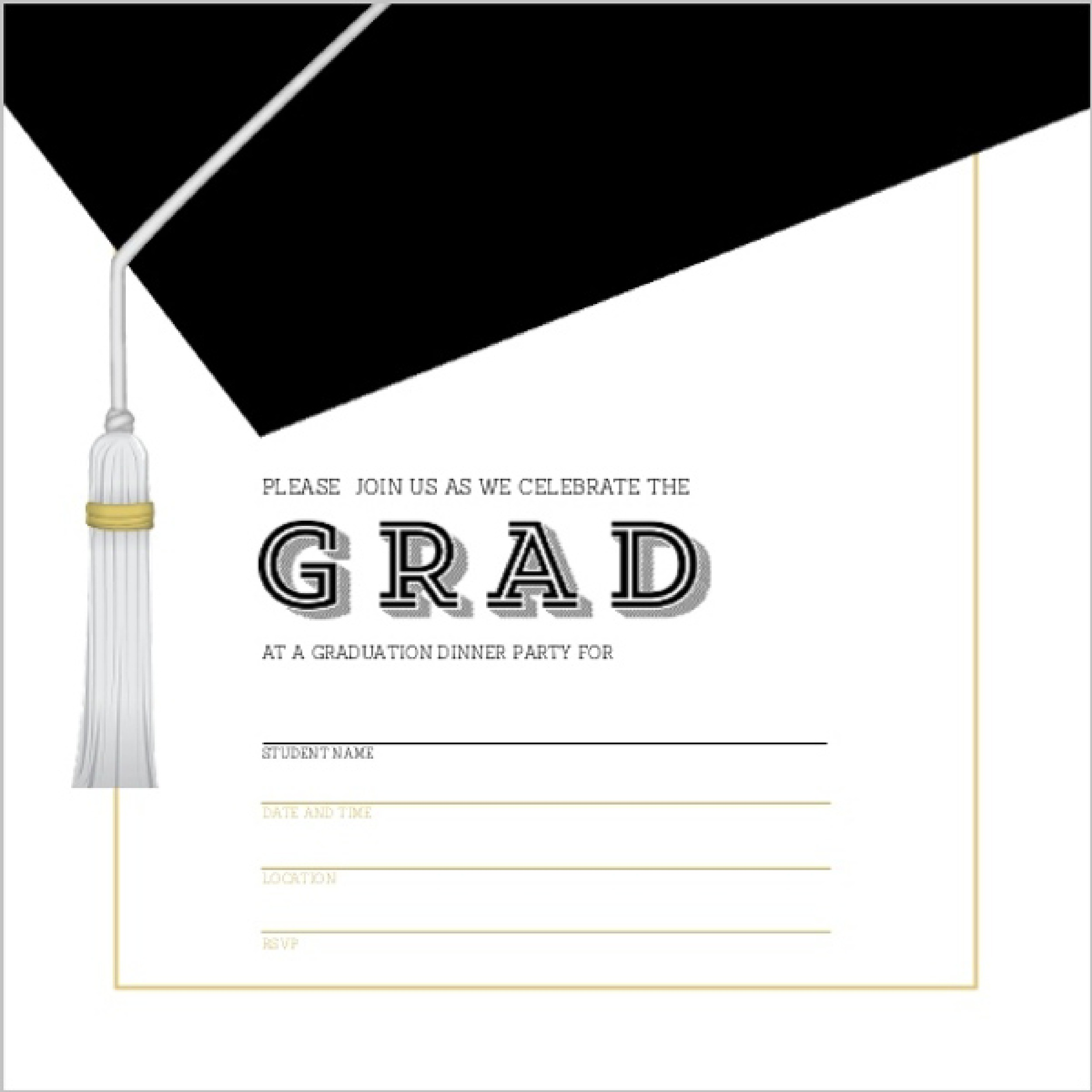 Printable Graduation Party Invitations – Printable Graduation Invitation Templates