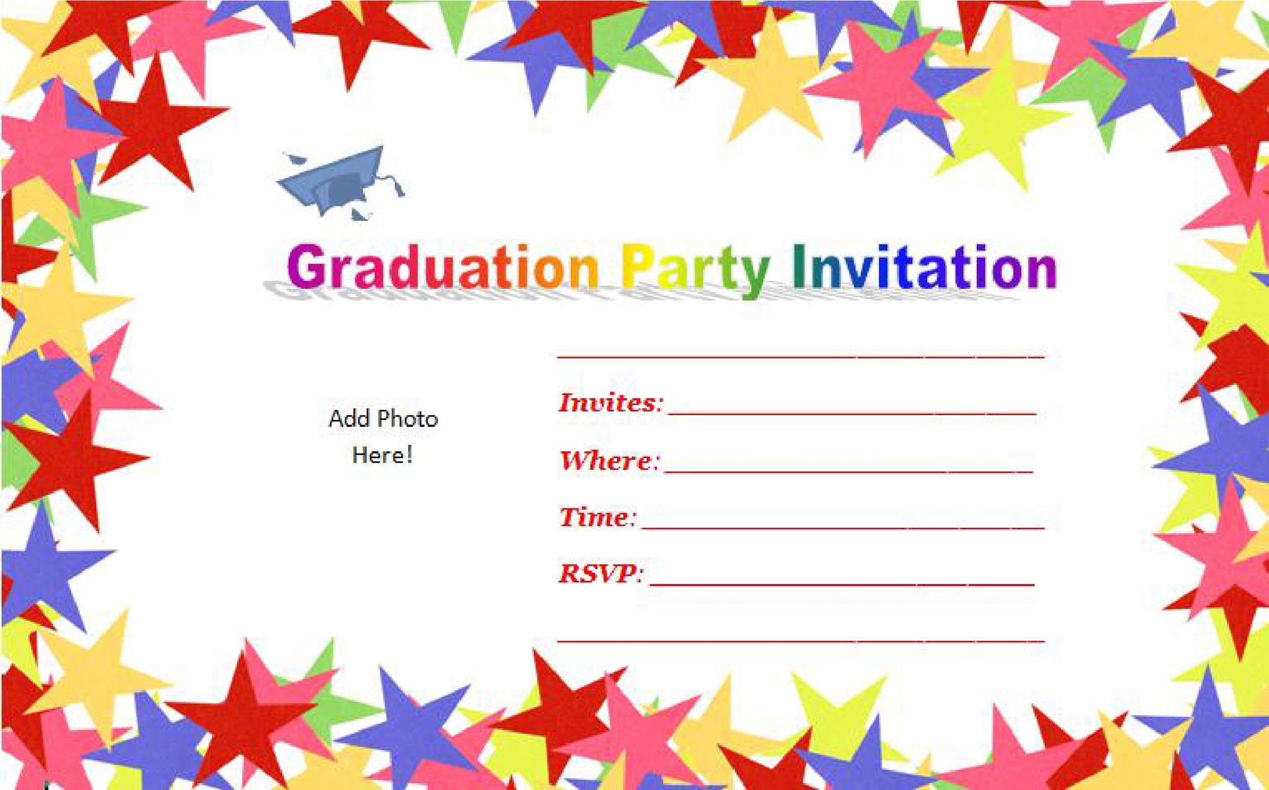 Free Graduation Invitation Templates 24
