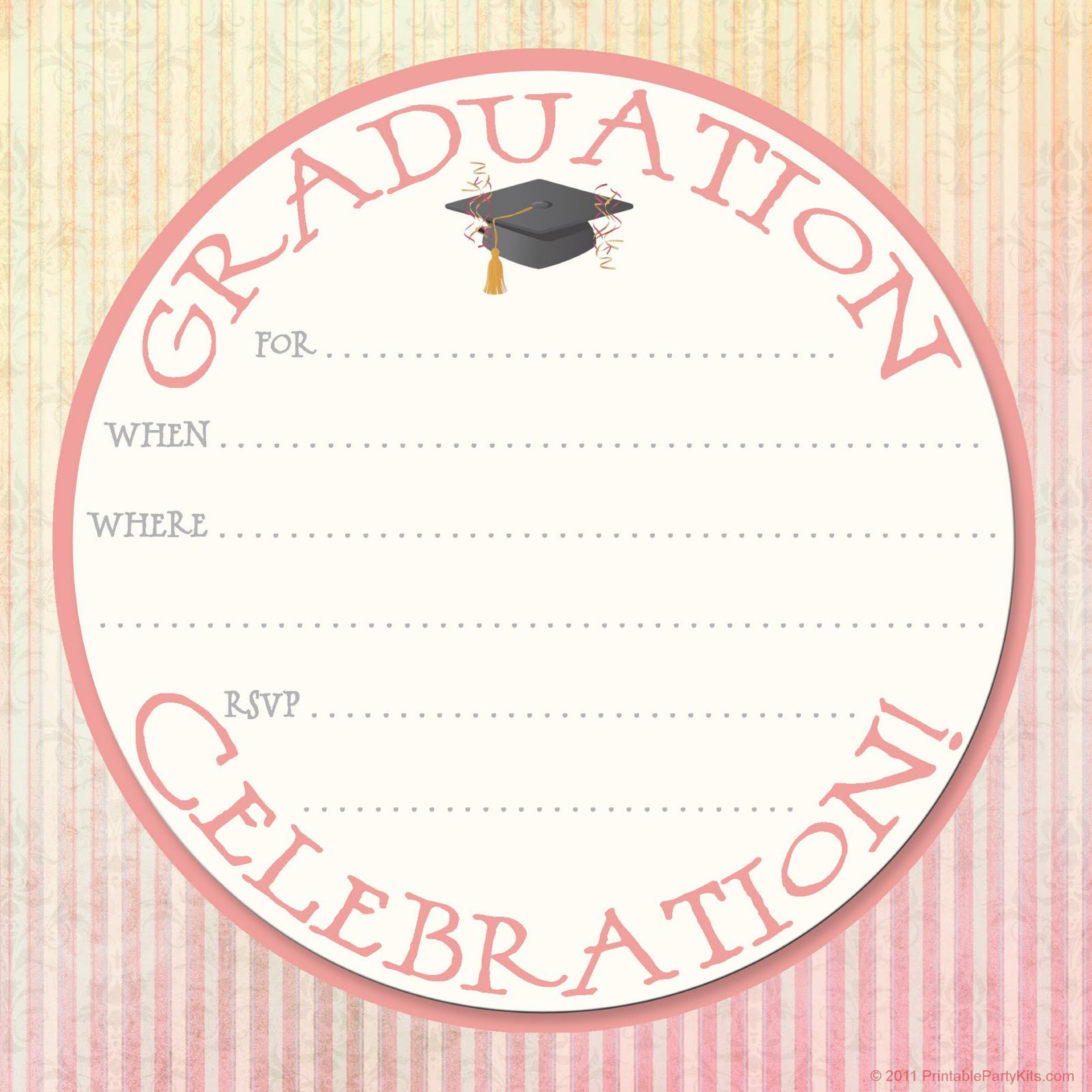 free graduation invitation templates 25 printable graduation invitation templates 25