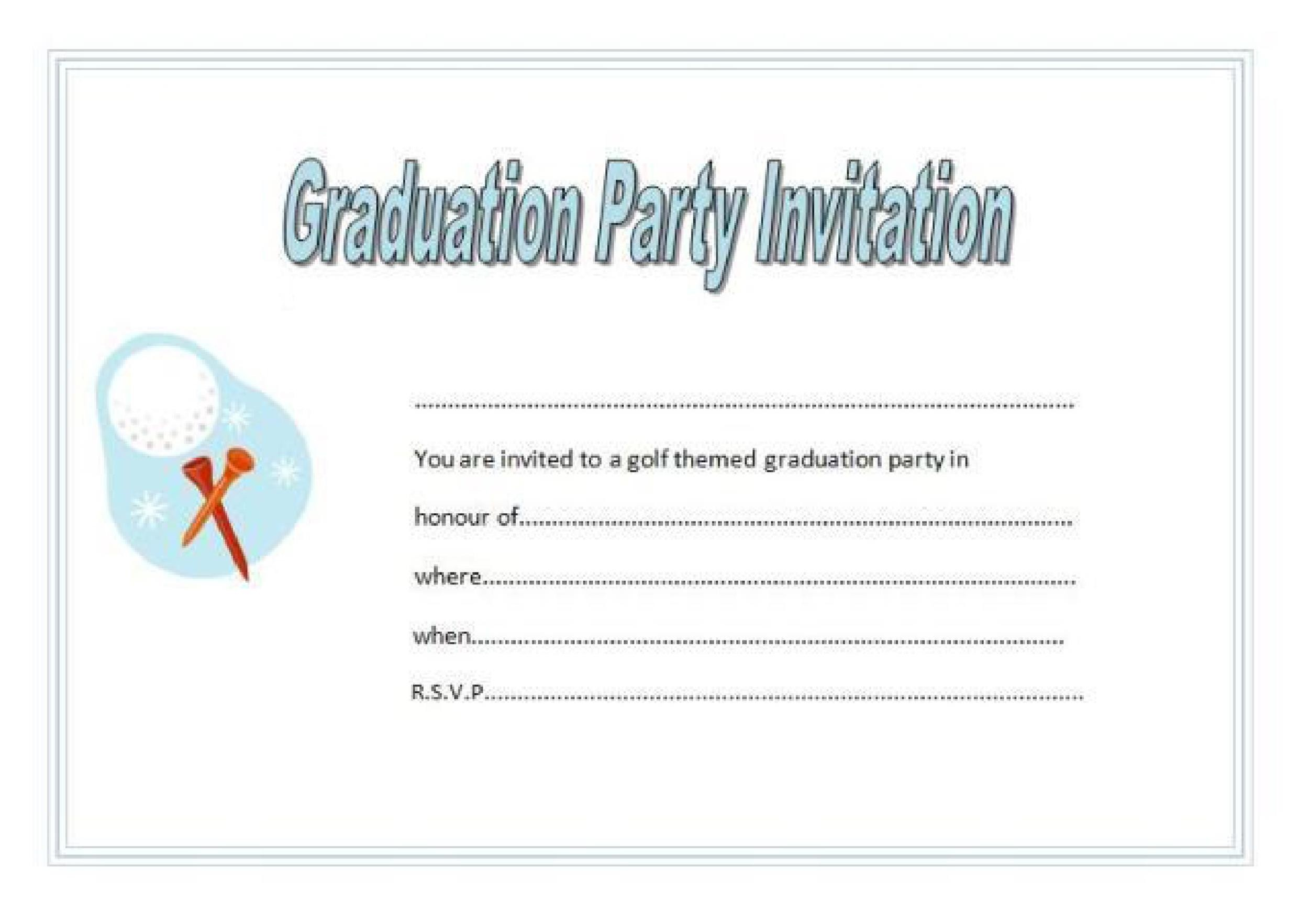 Free Graduation Invitation Templates 27