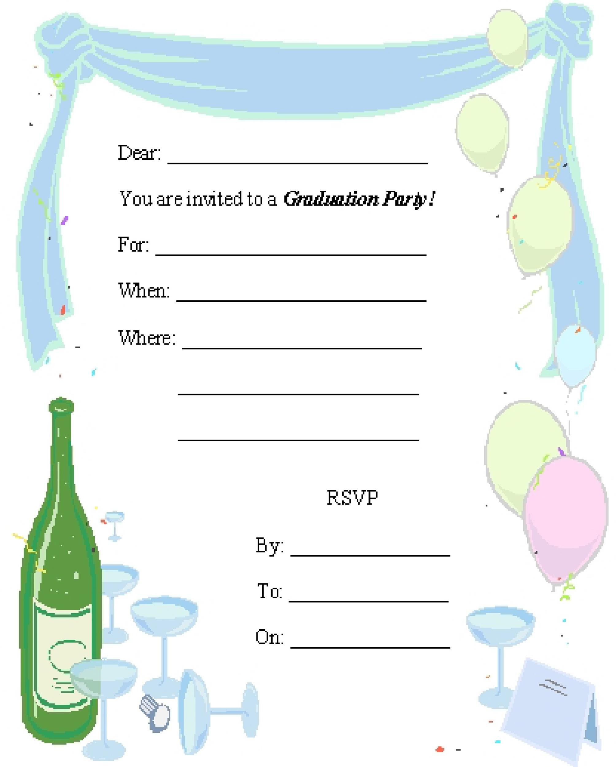 Free Graduation Invitation Templates 28