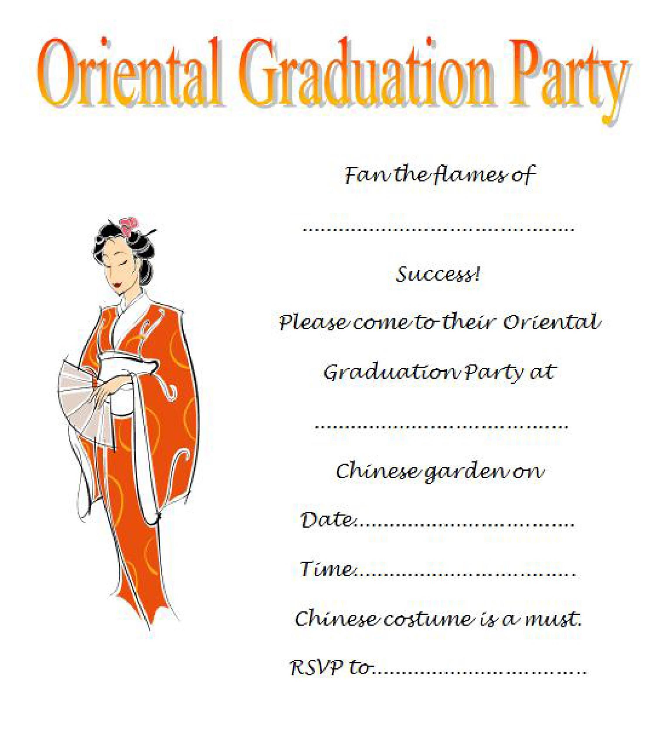 Free Graduation Invitation Templates 29