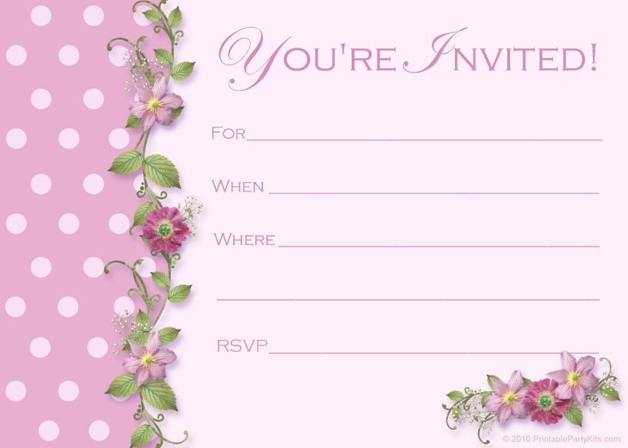 Printable Graduation Invitation Templates 30  Free Invitation Templates