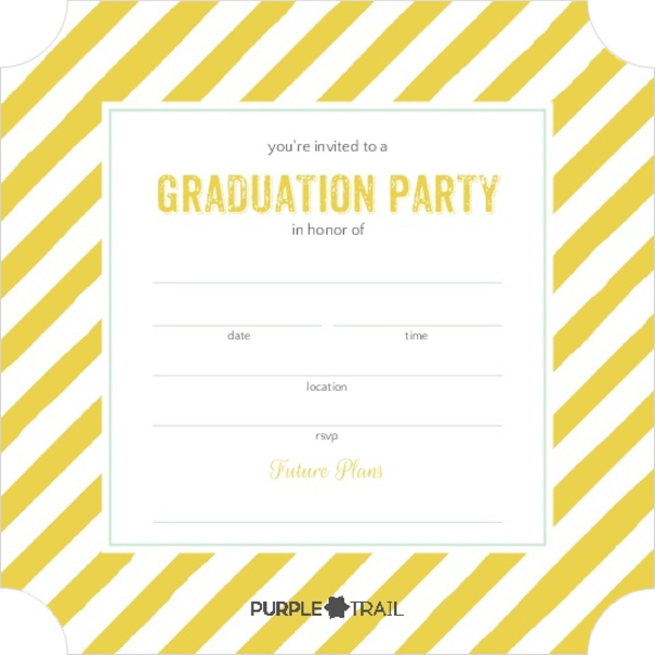 Free Graduation Invitation Templates 32