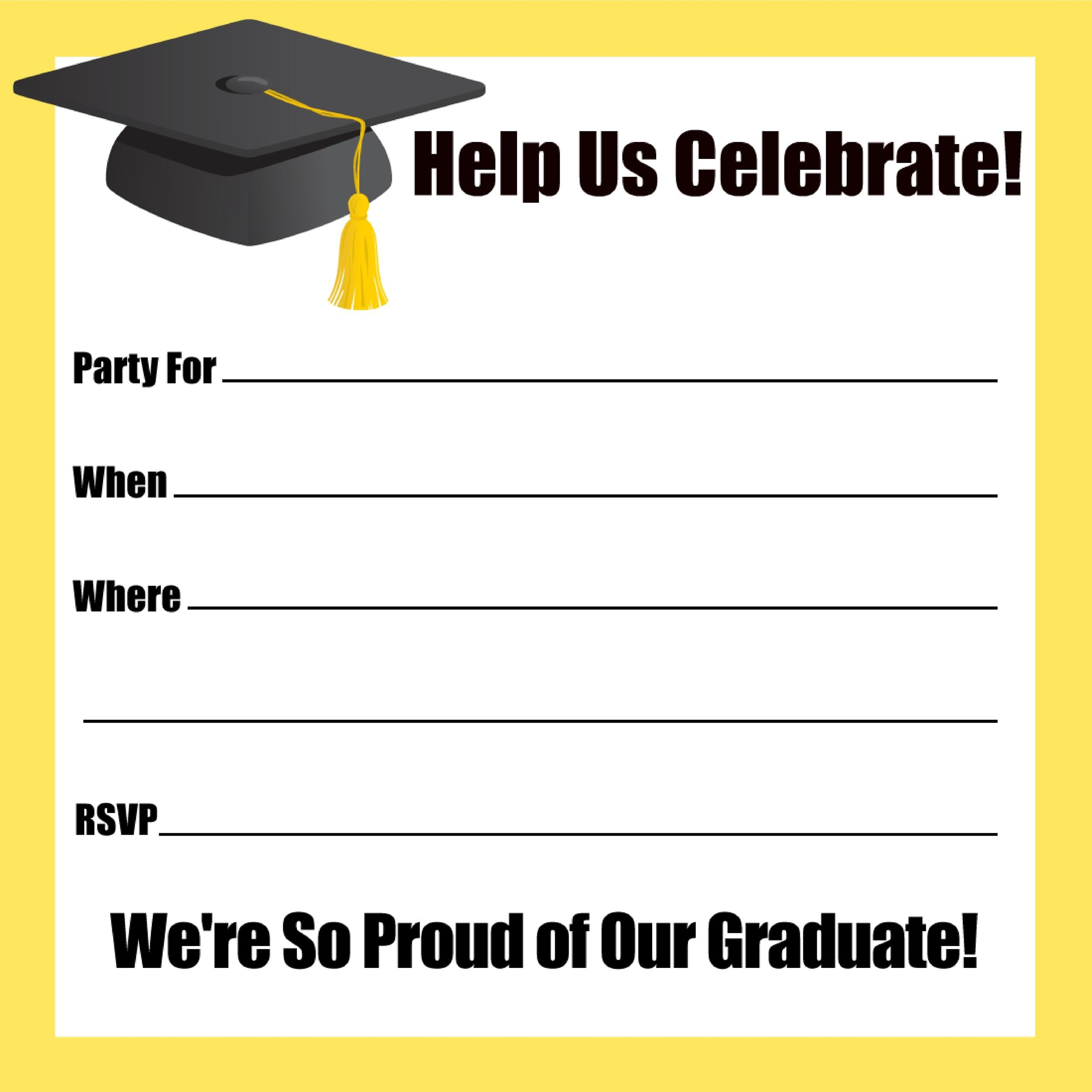picture about Free Printable Graduation Party Games identify 40+ Free of charge Commencement Invitation Templates ᐅ Template Lab