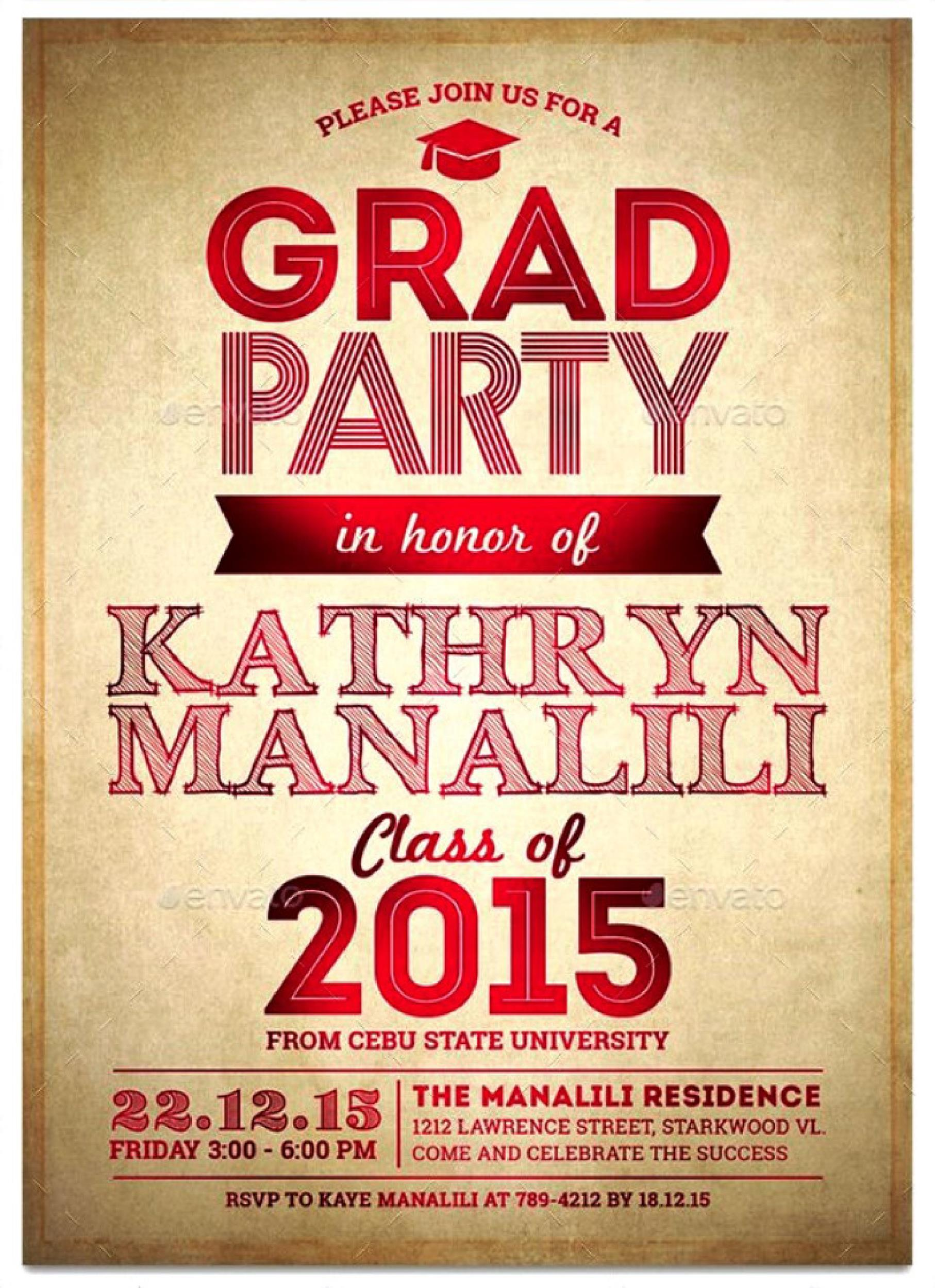 Free Graduation Invitation Templates 34