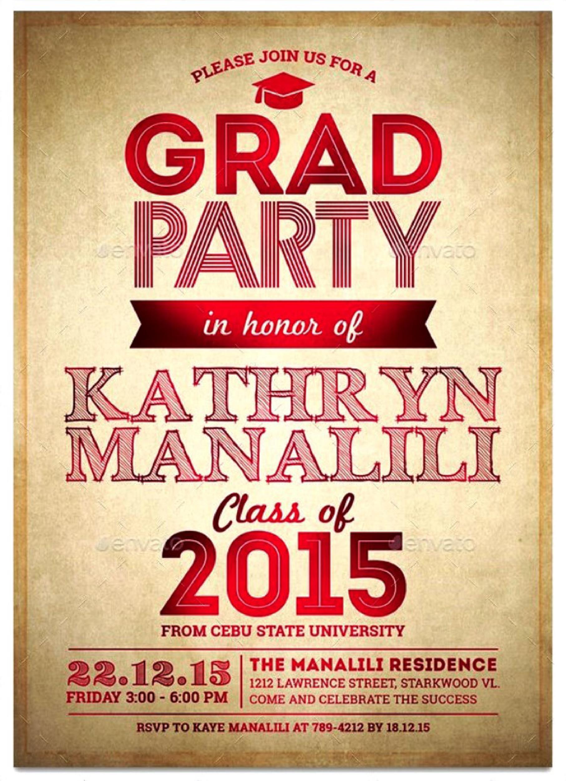 Free Graduation Invitation Templates 34