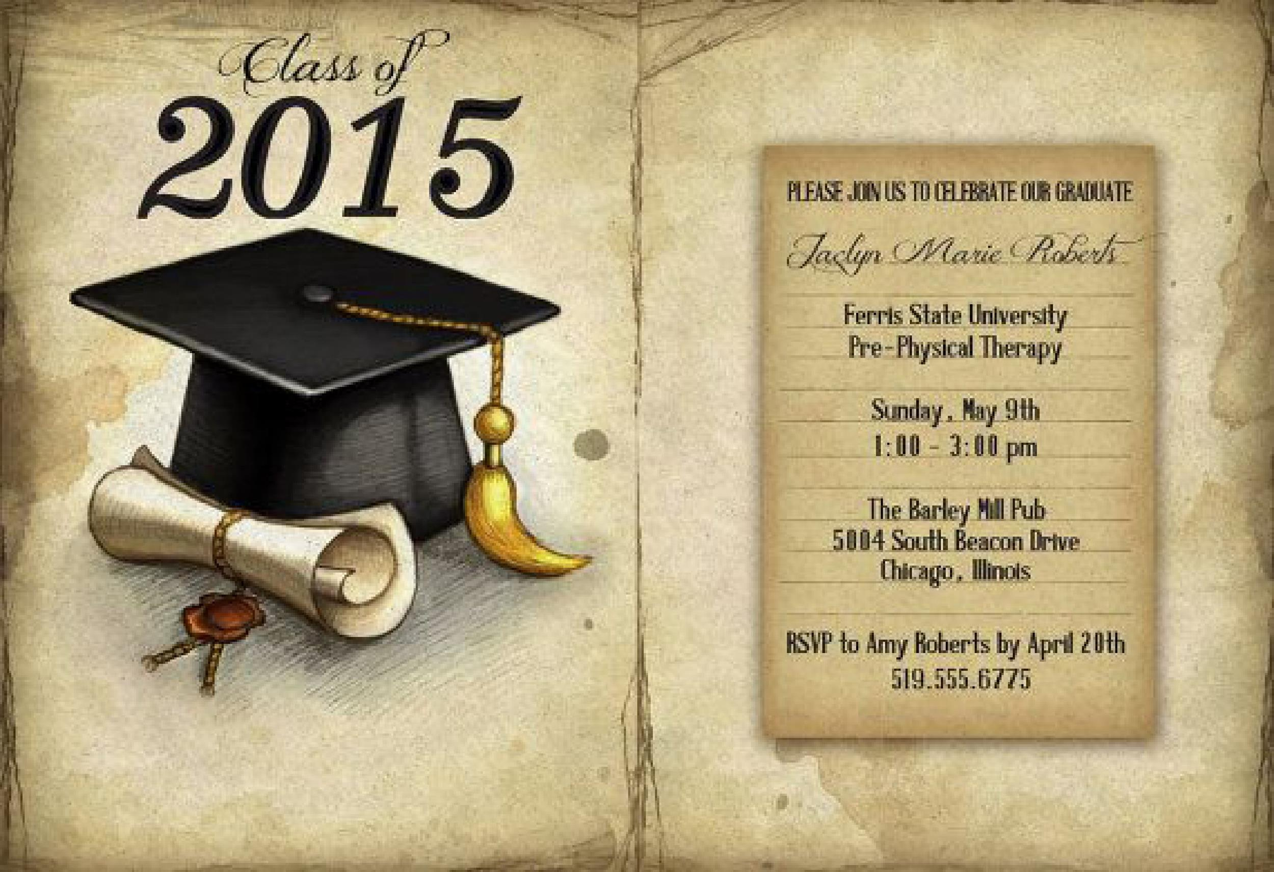 40  free graduation invitation templates  u1405 template lab
