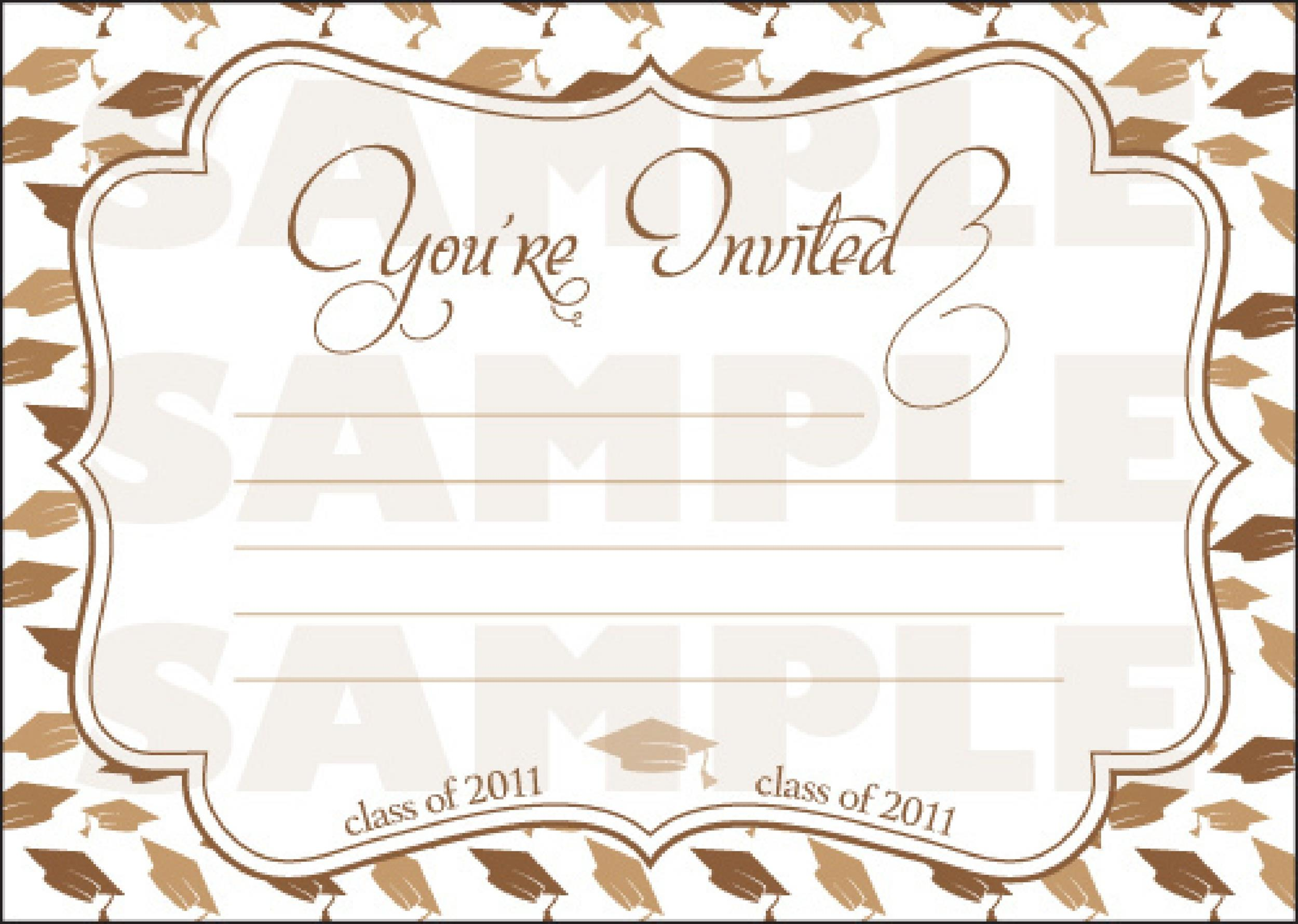 Printable graduation invitation templates gallery for Graduation mortar board template