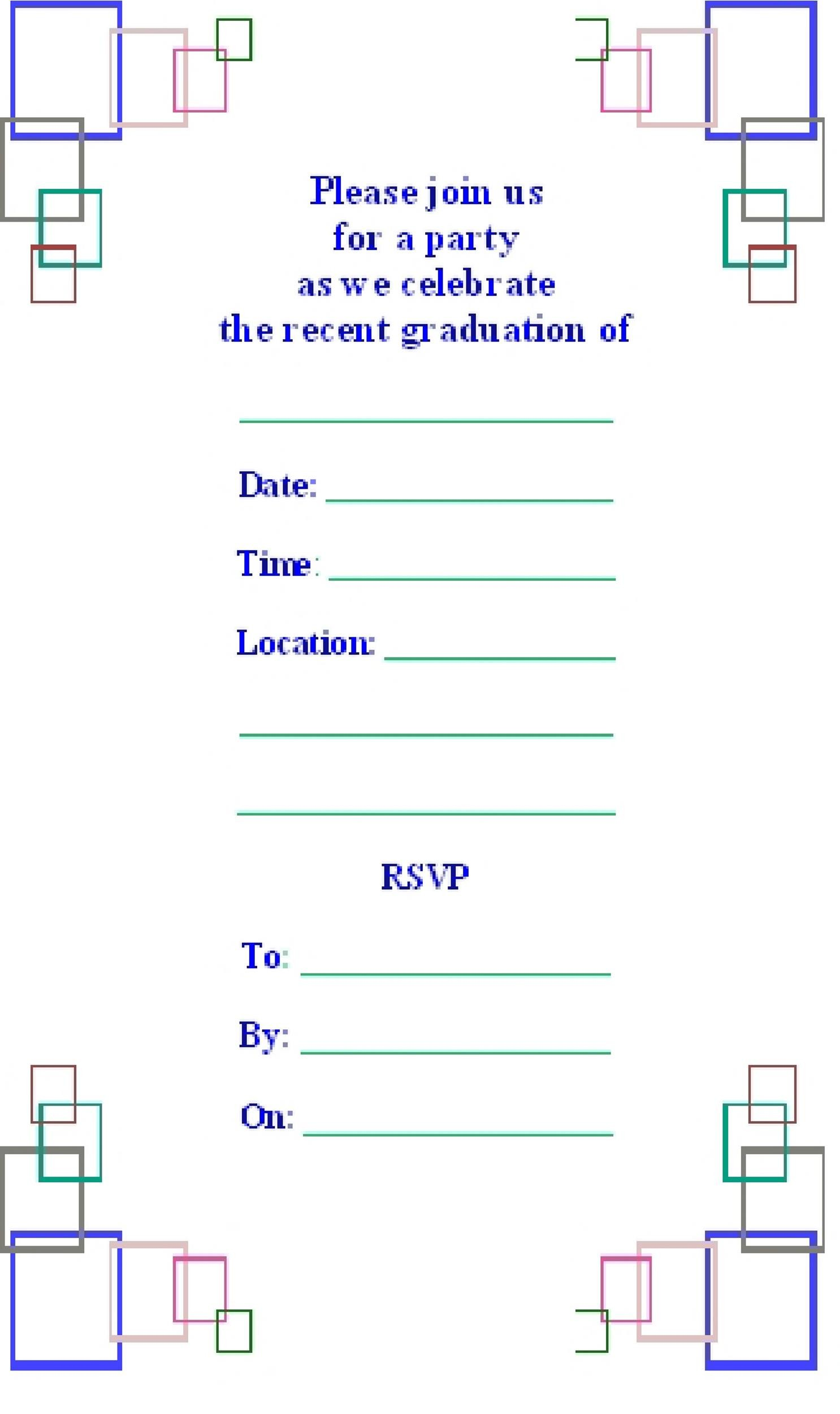 40 free graduation invitation templates template lab for Graduation party checklist template