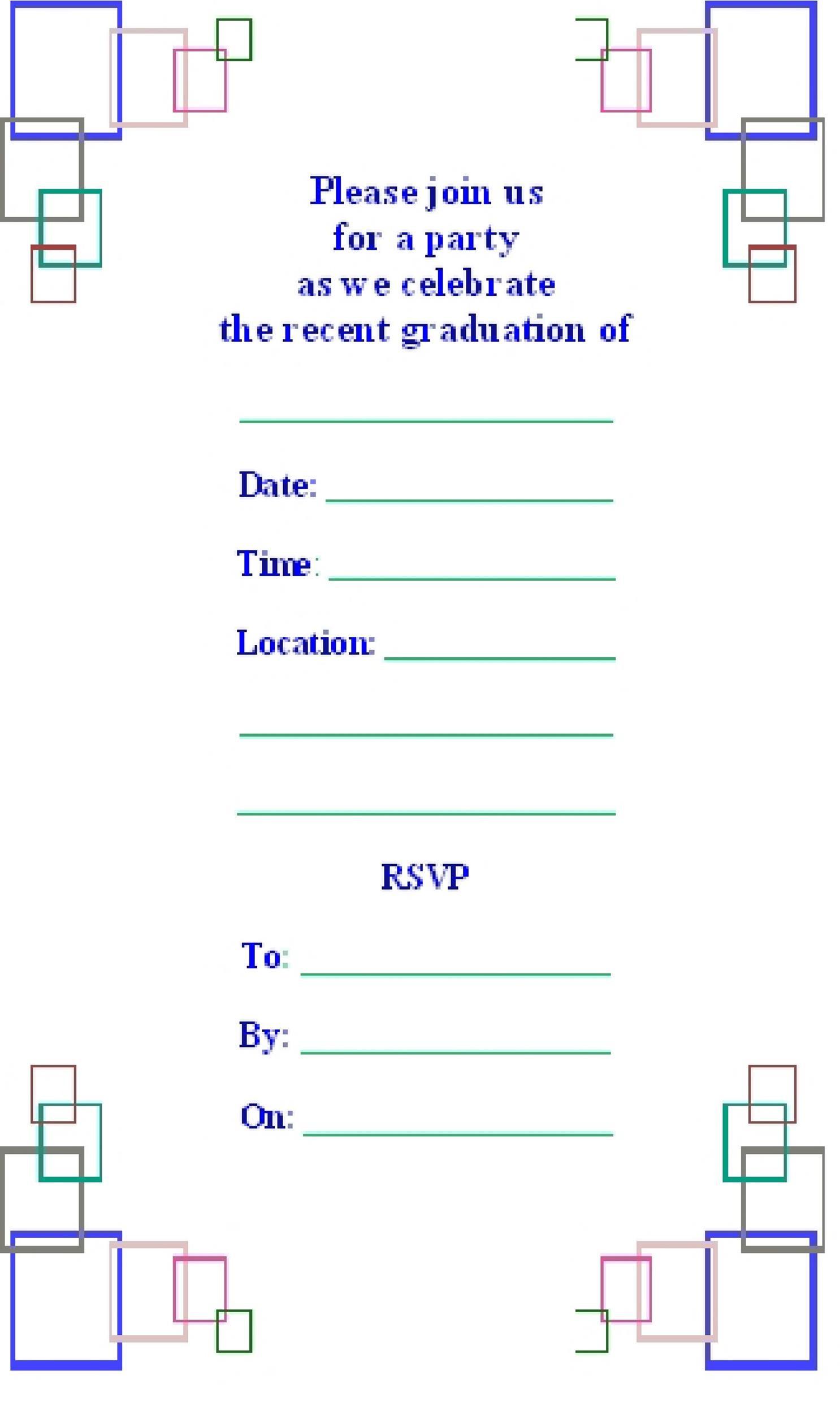 Free Graduation Invitation Templates 41