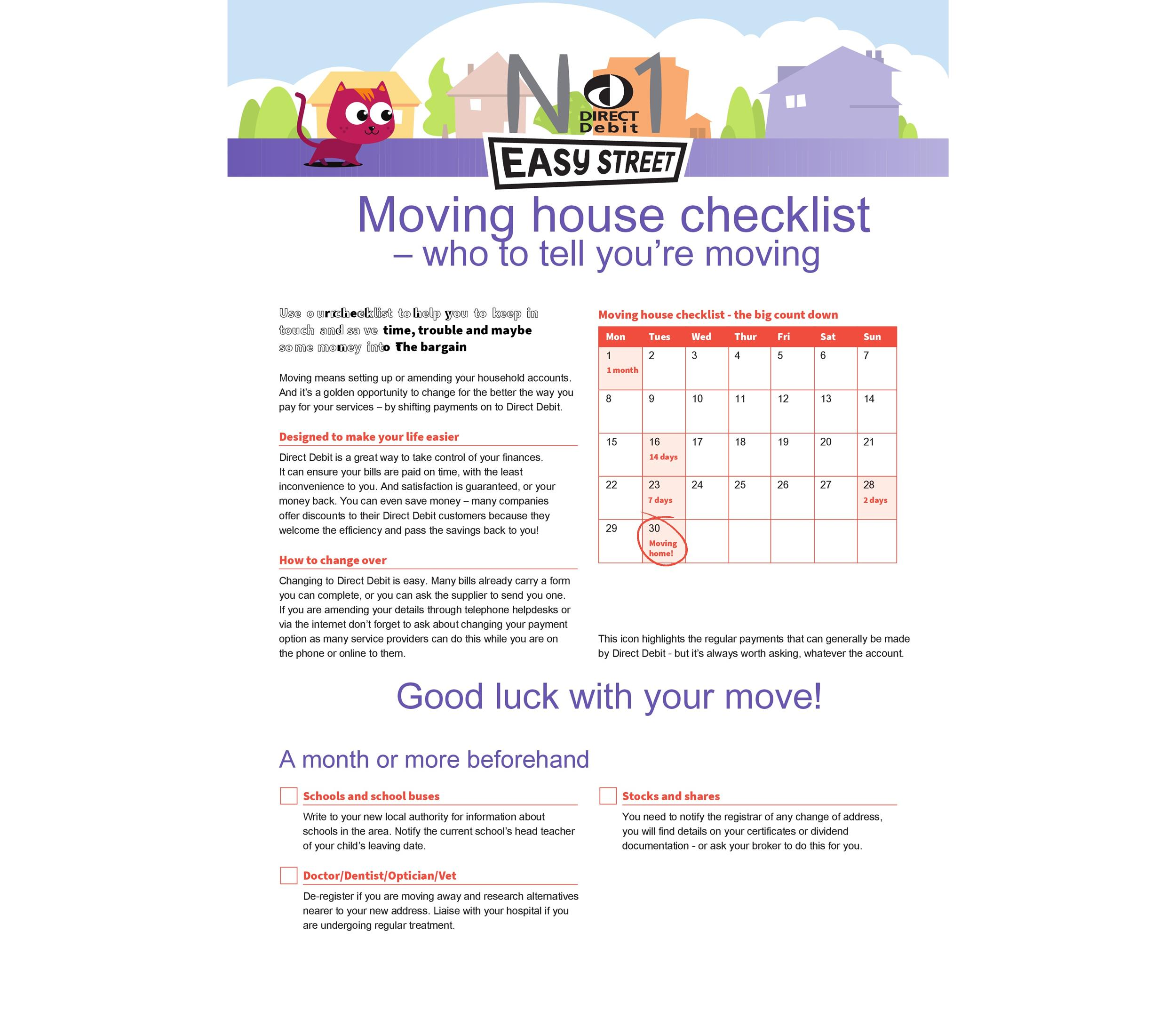 Great Moving Checklists Checklist For Moving In  Out