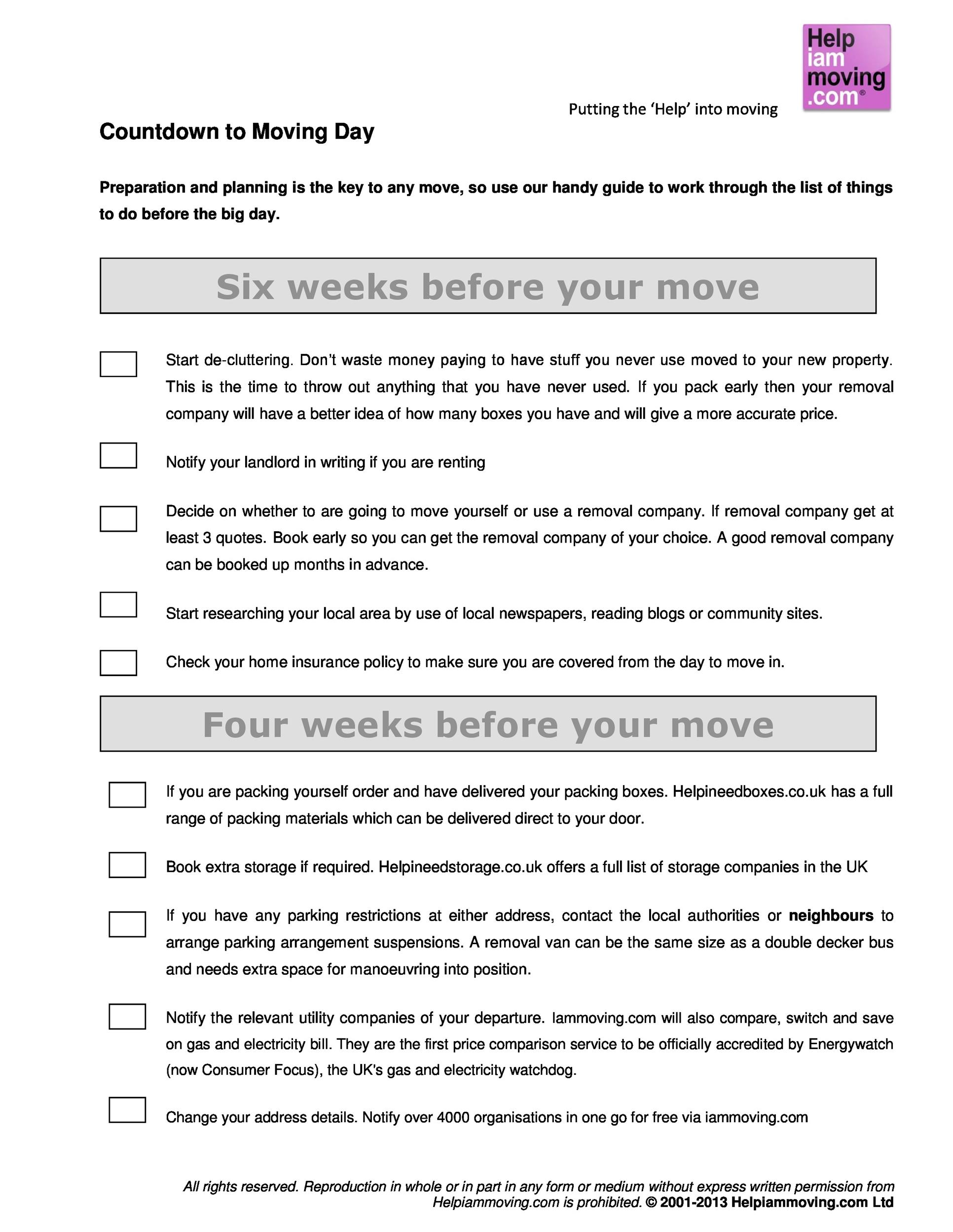 Free moving checklist 09