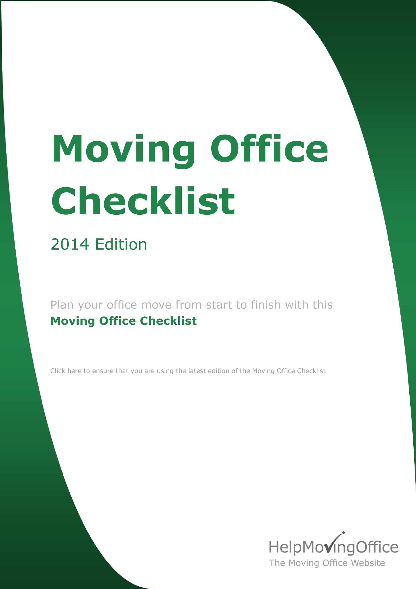 Free moving checklist 15