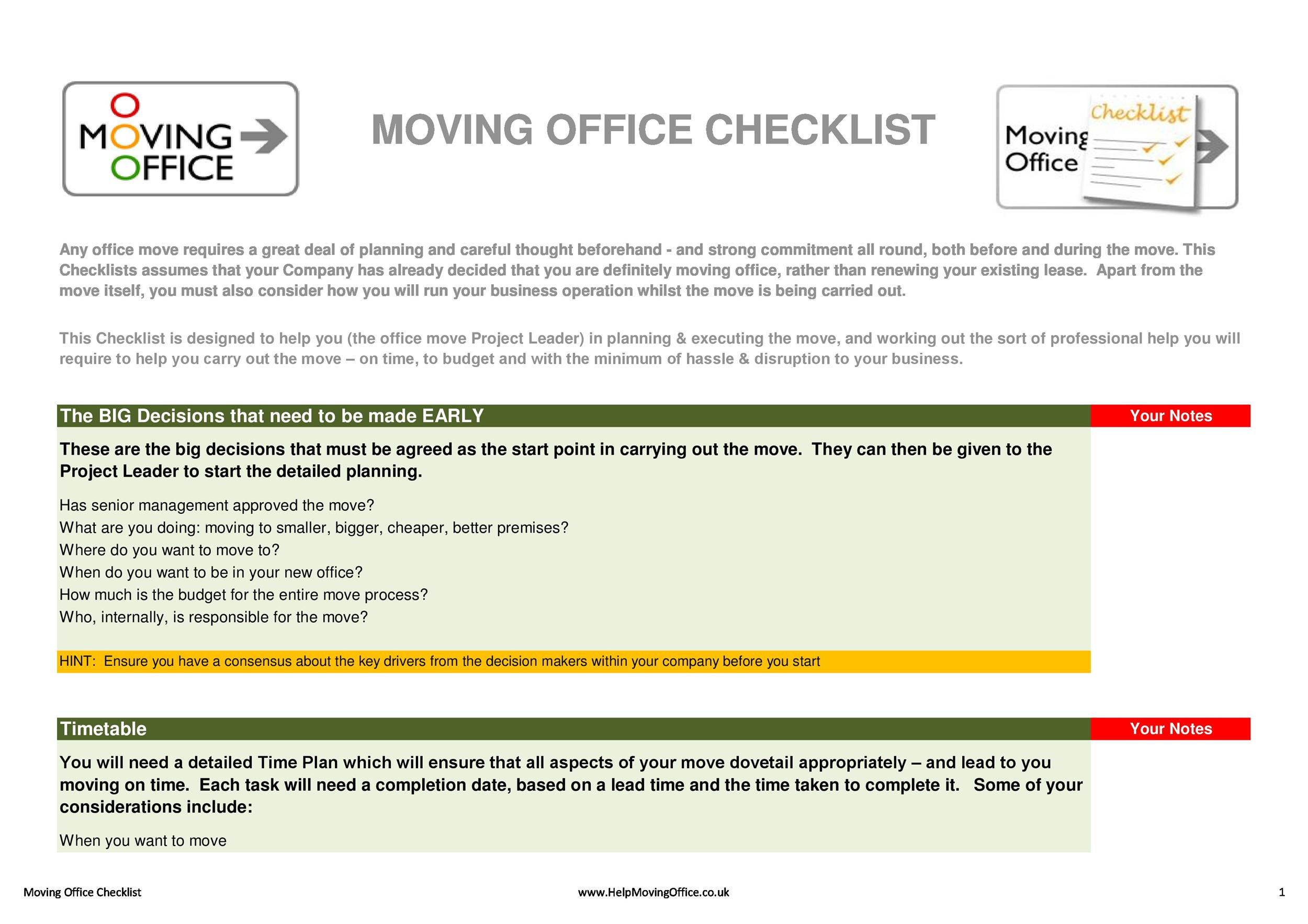 Free moving checklist 16