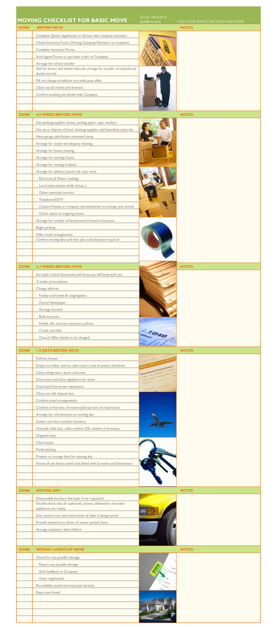 moving checklist 17