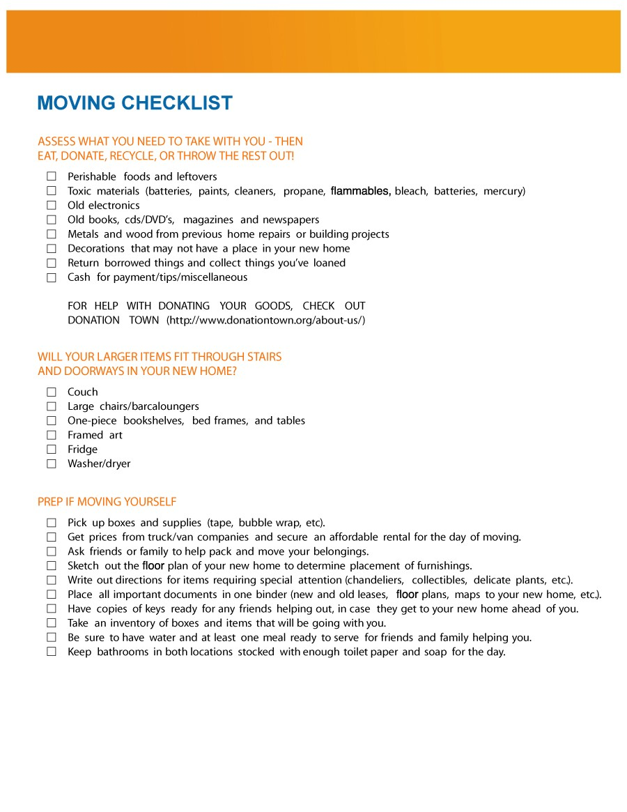 Free moving checklist 35