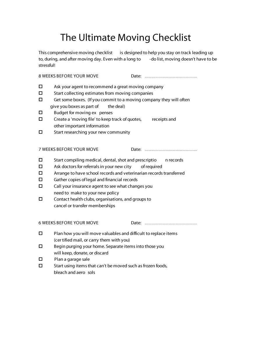 Free moving checklist 36