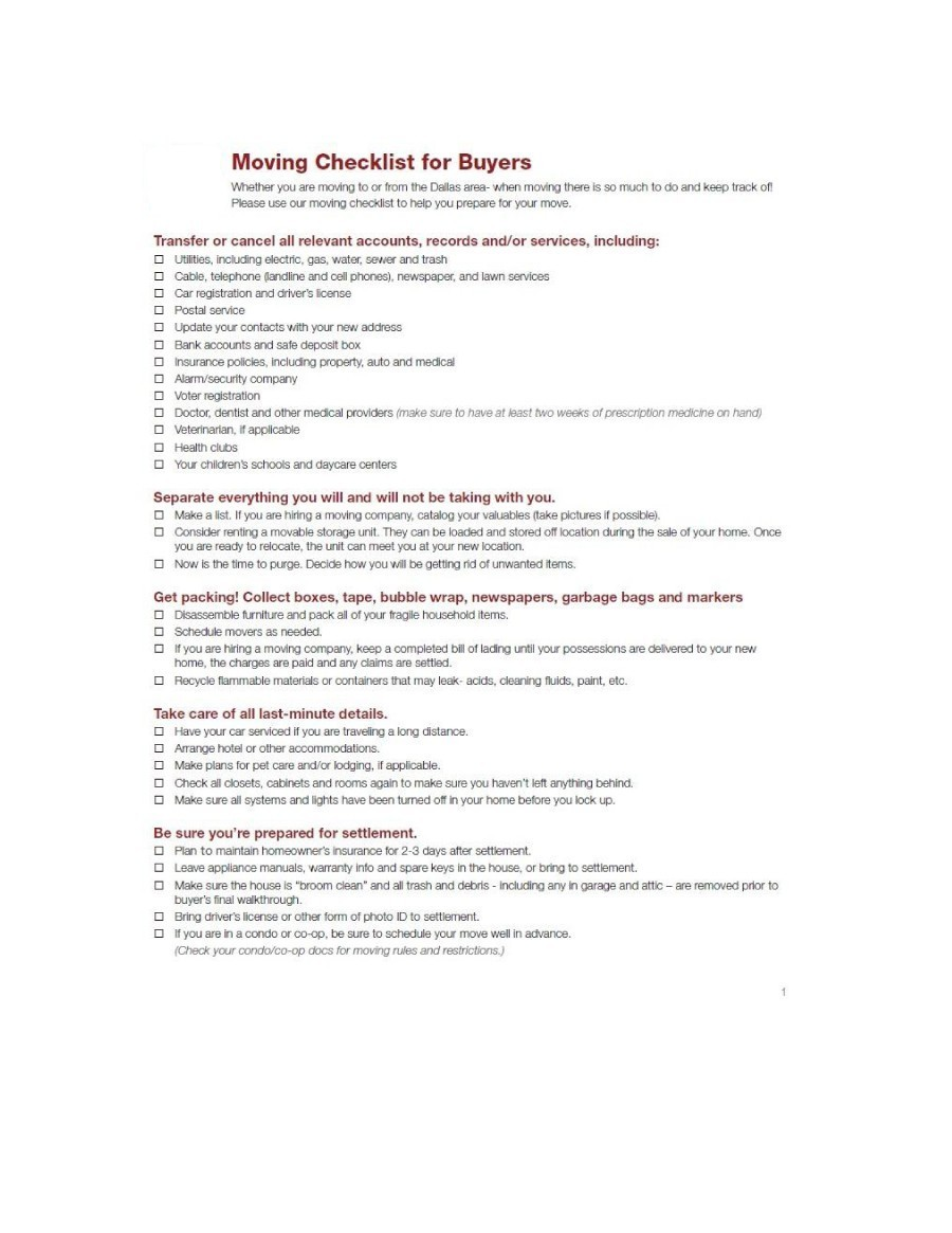 moving checklist 39