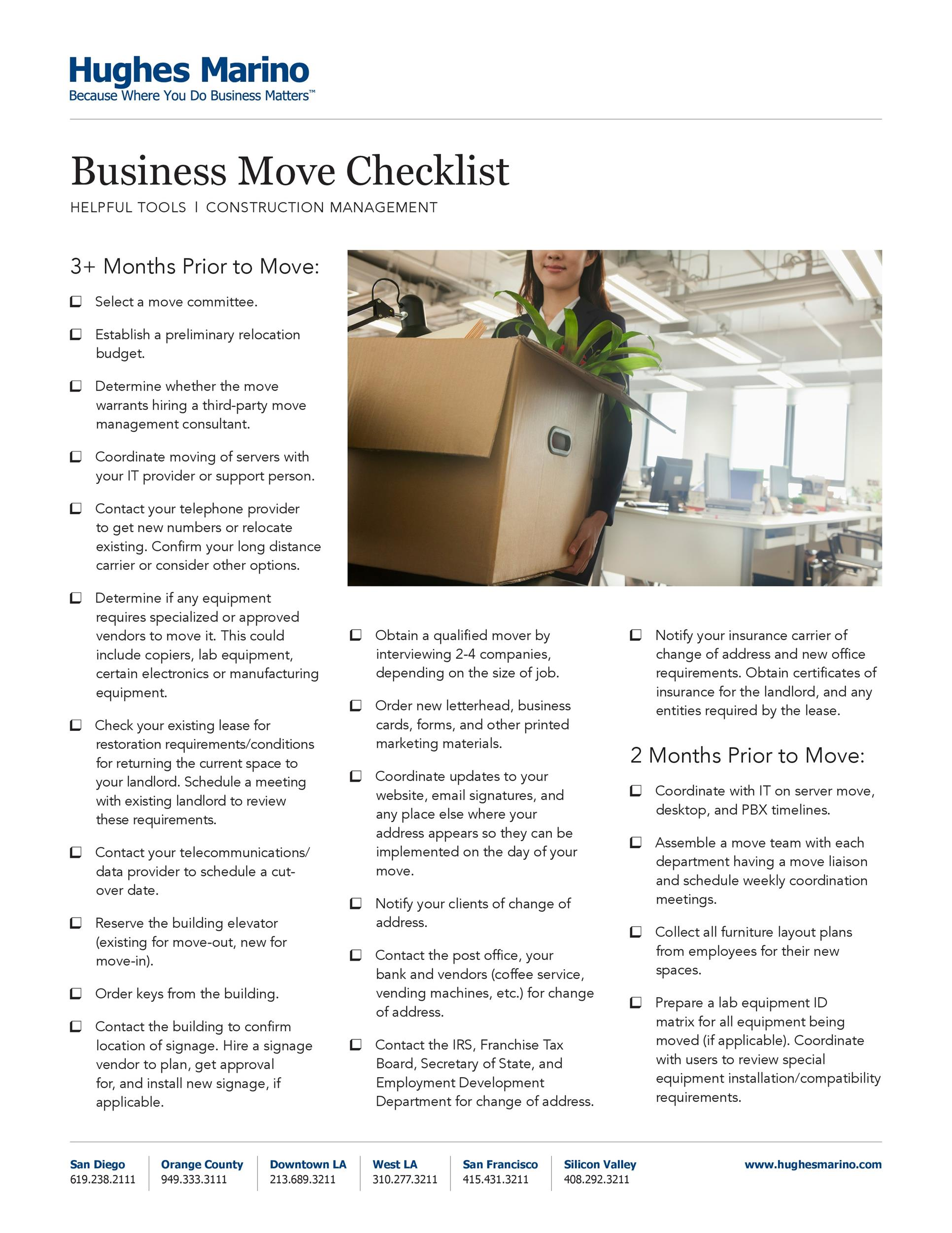 Free moving checklist 45