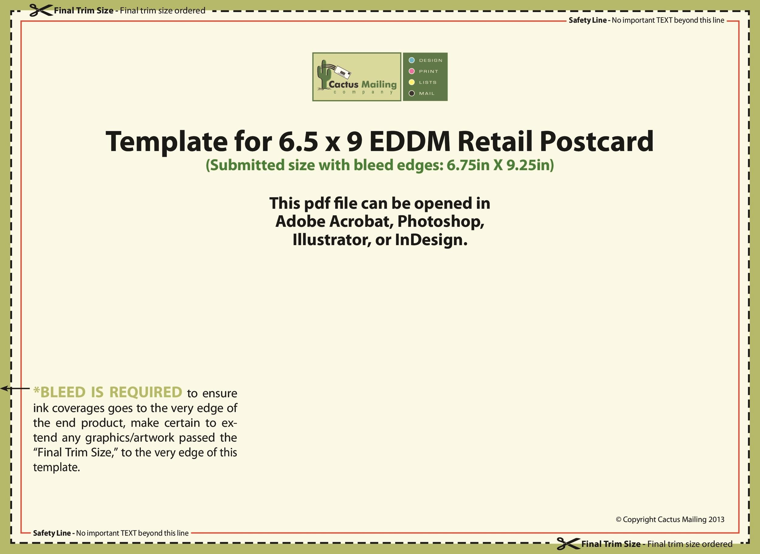 us postcard template