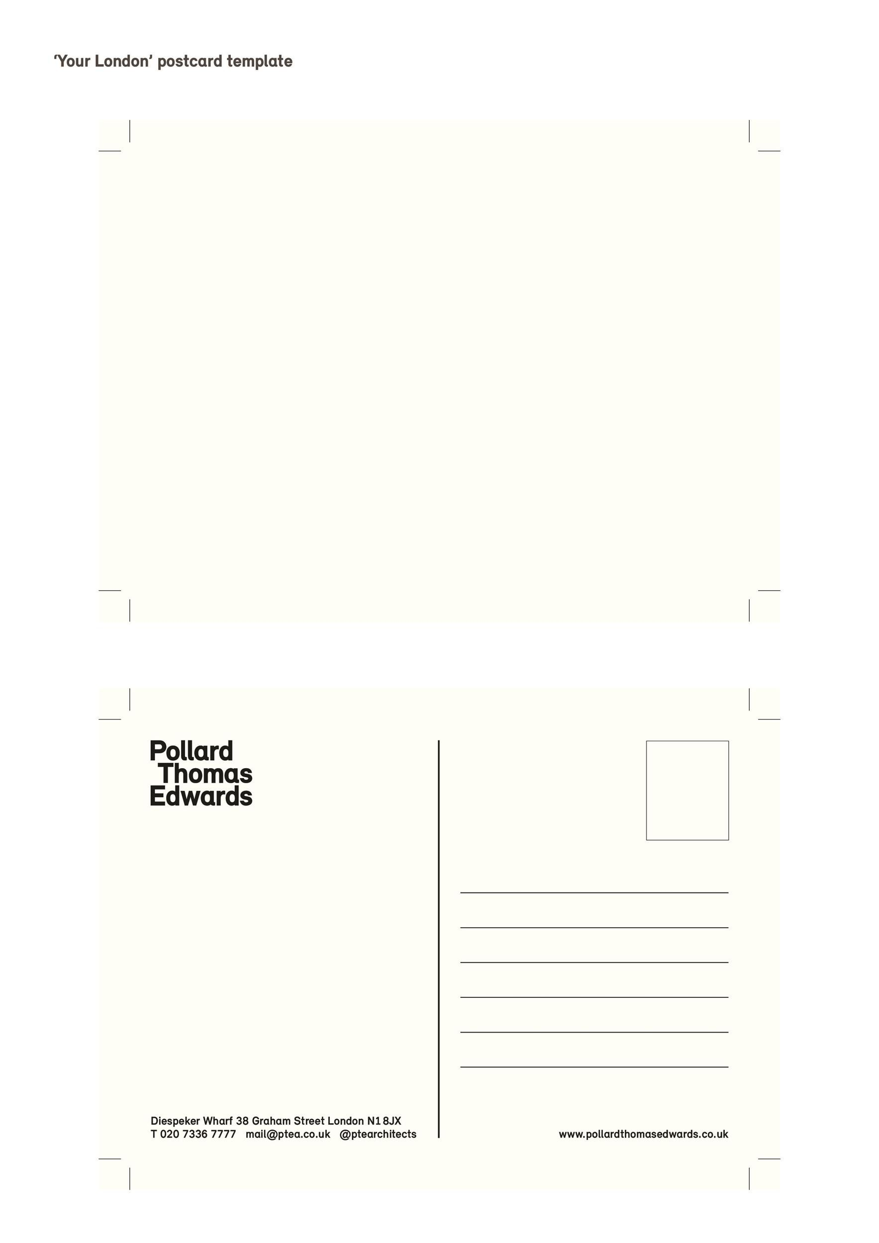 Free postcard template 05
