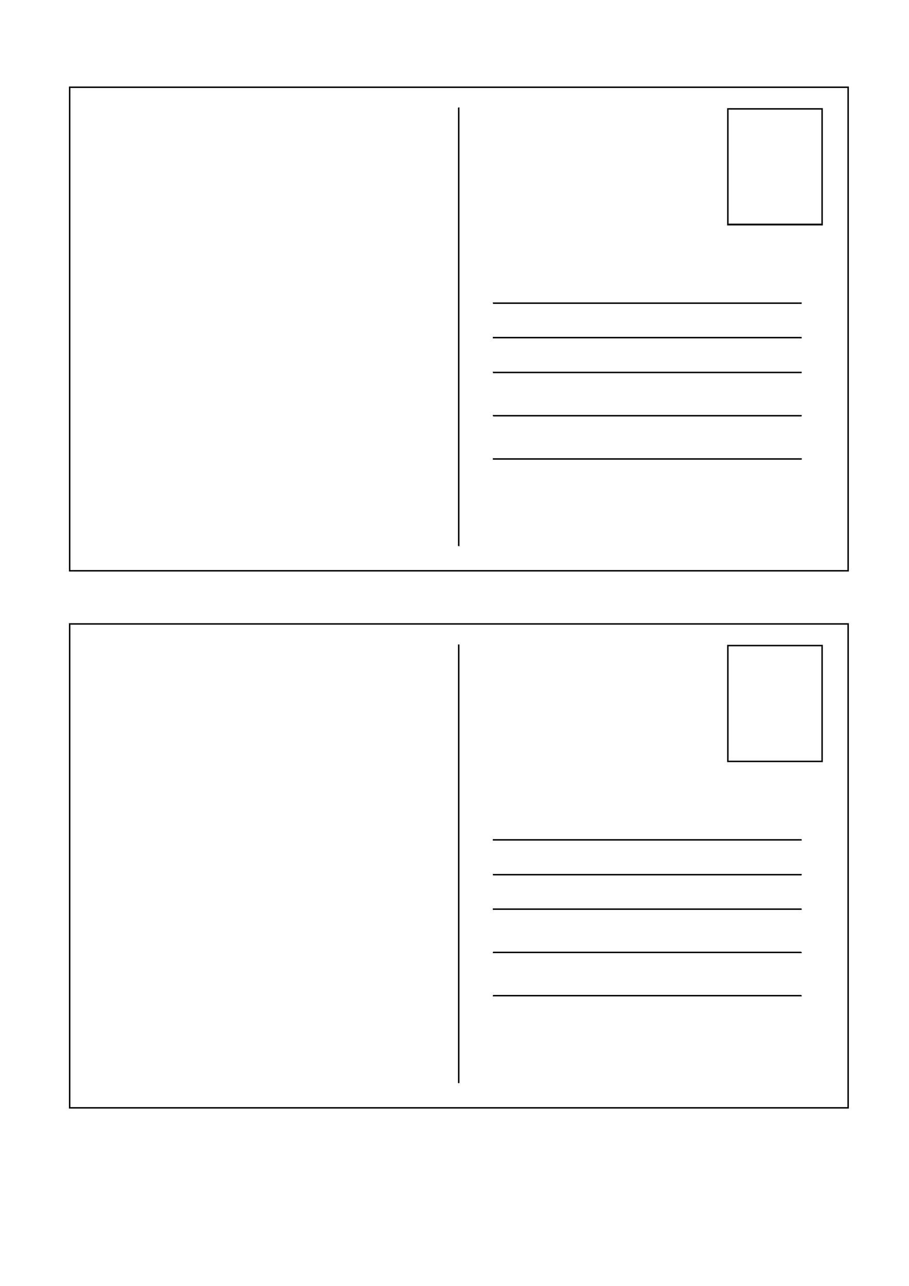 Printable Postcard Template 07 For Postcard Templates Free