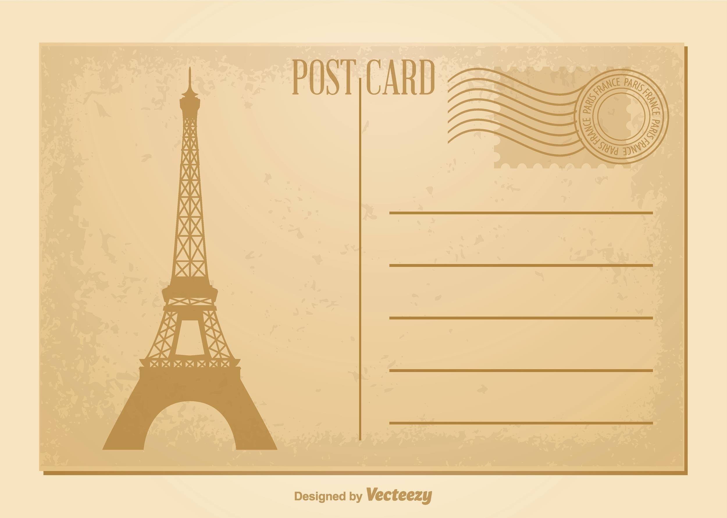 Free postcard template 09