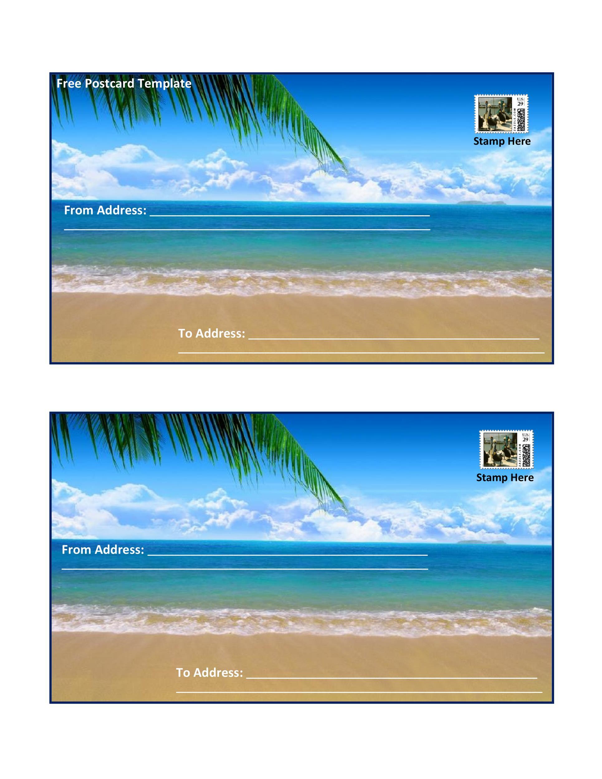 Free postcard template 15