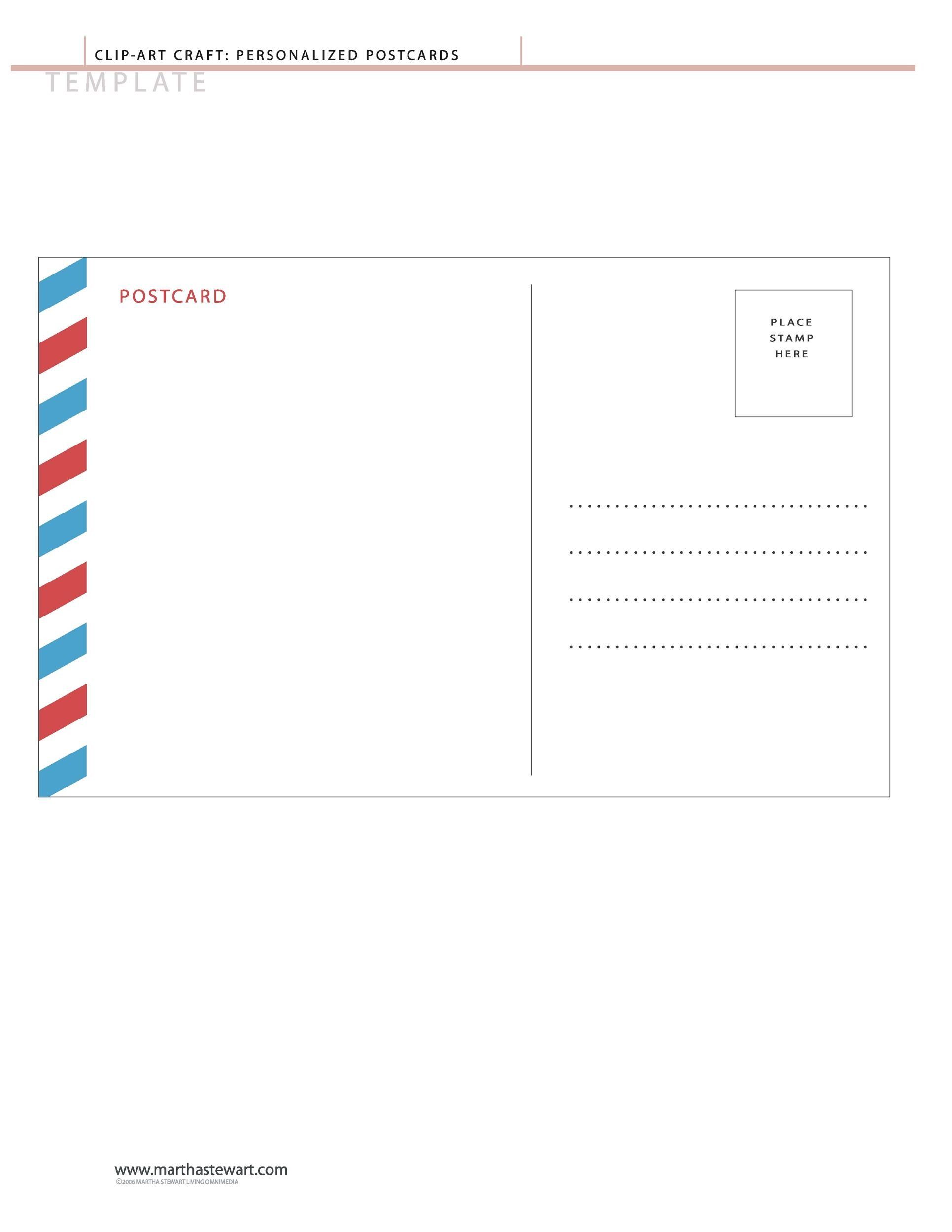 Free postcard template 19