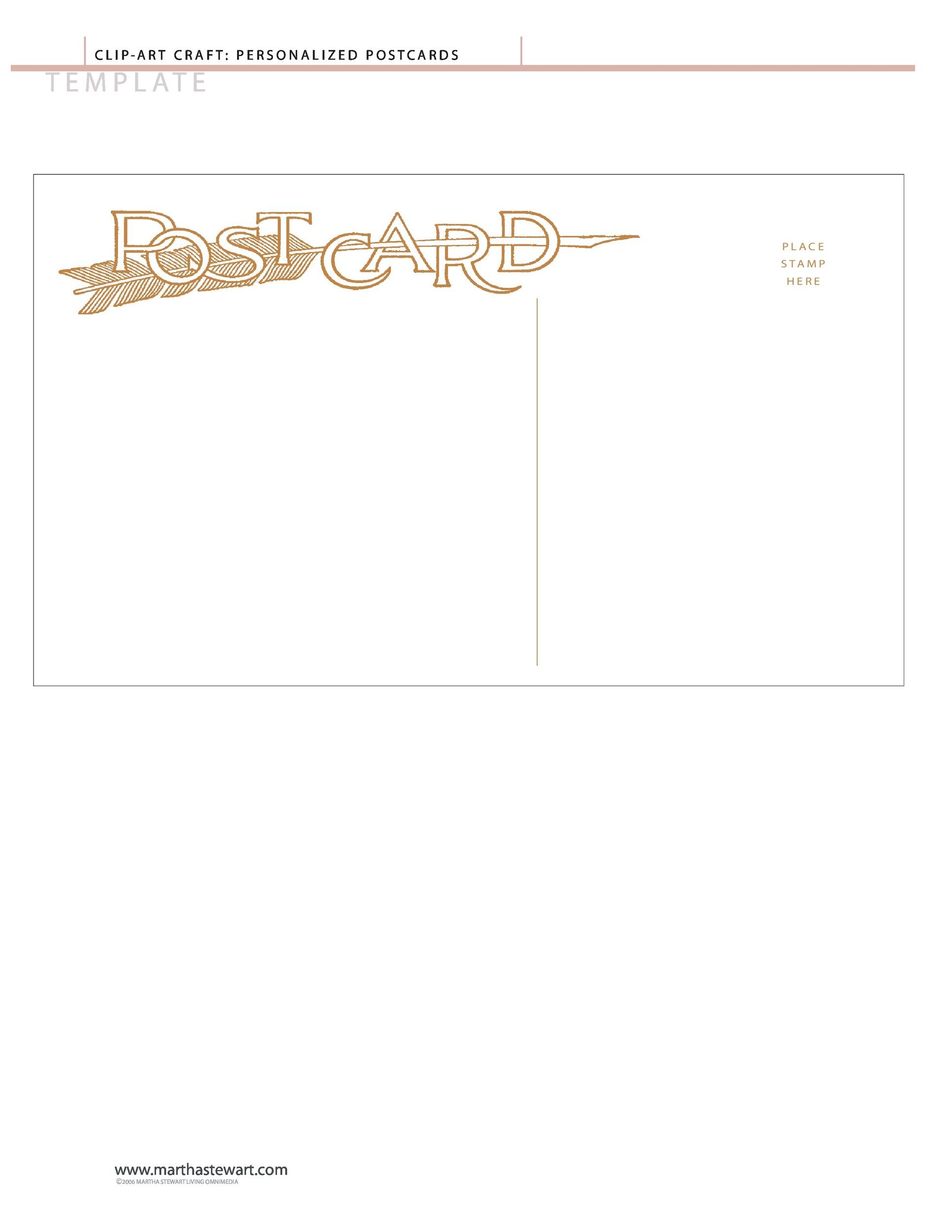 Free postcard template 20