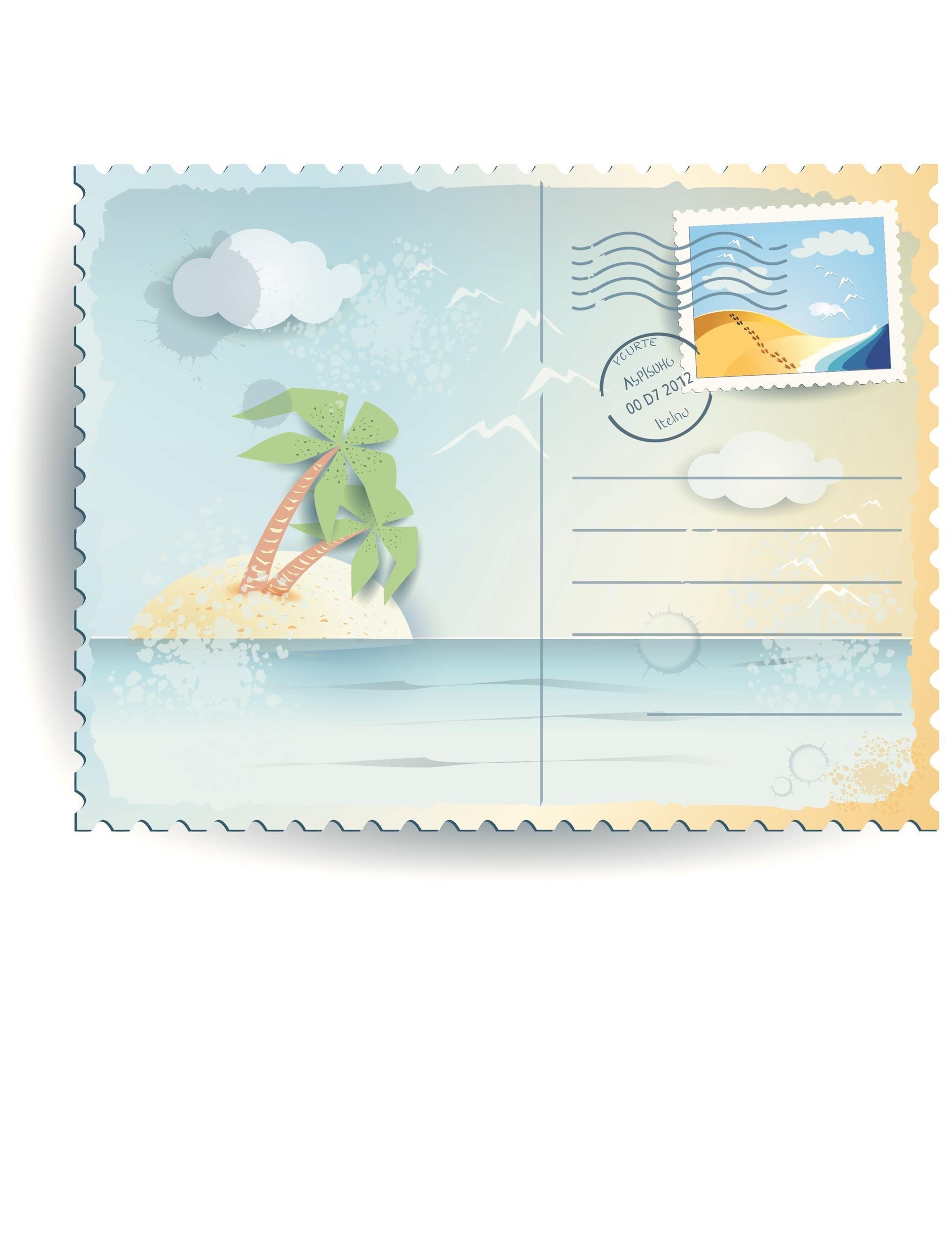 Free postcard template 28