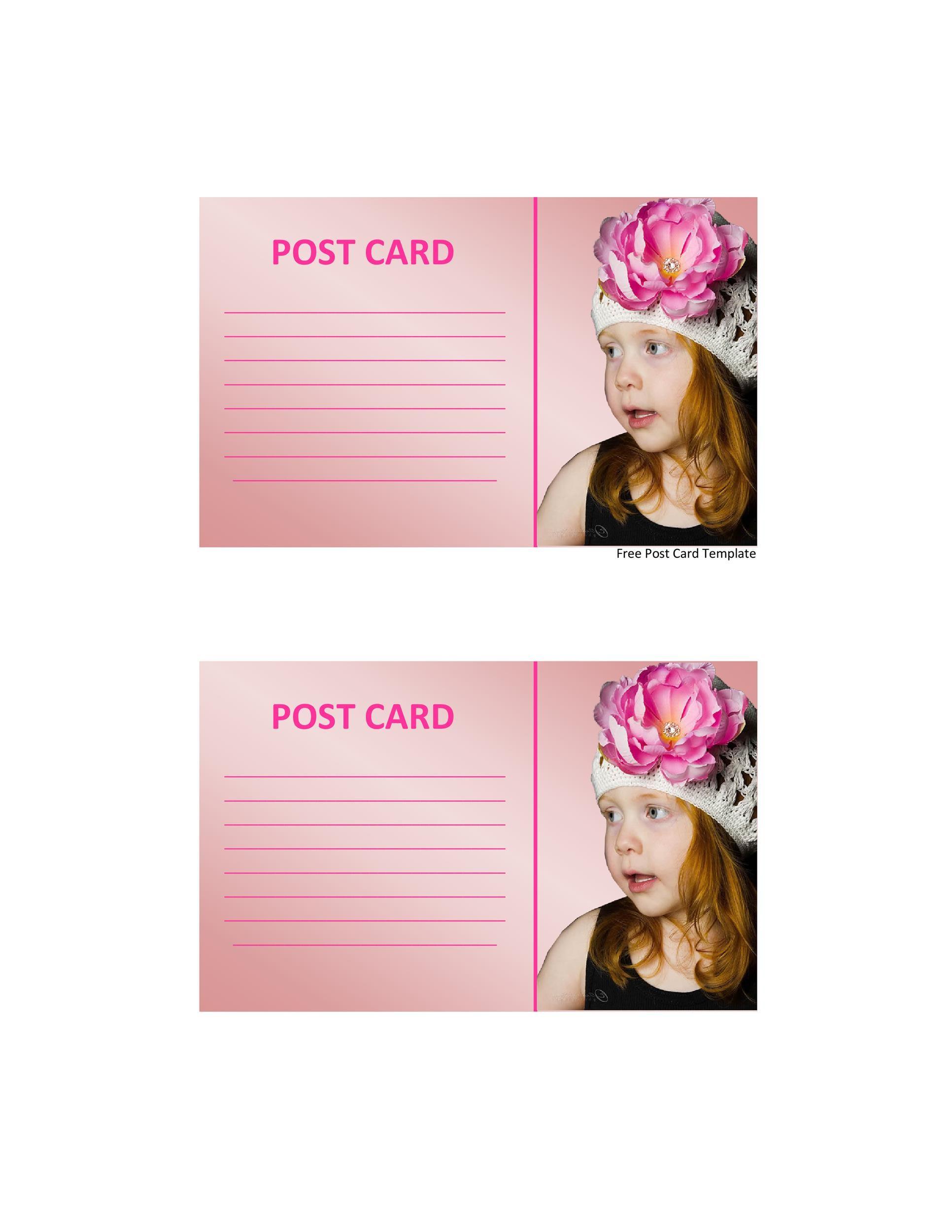 Free postcard template 32