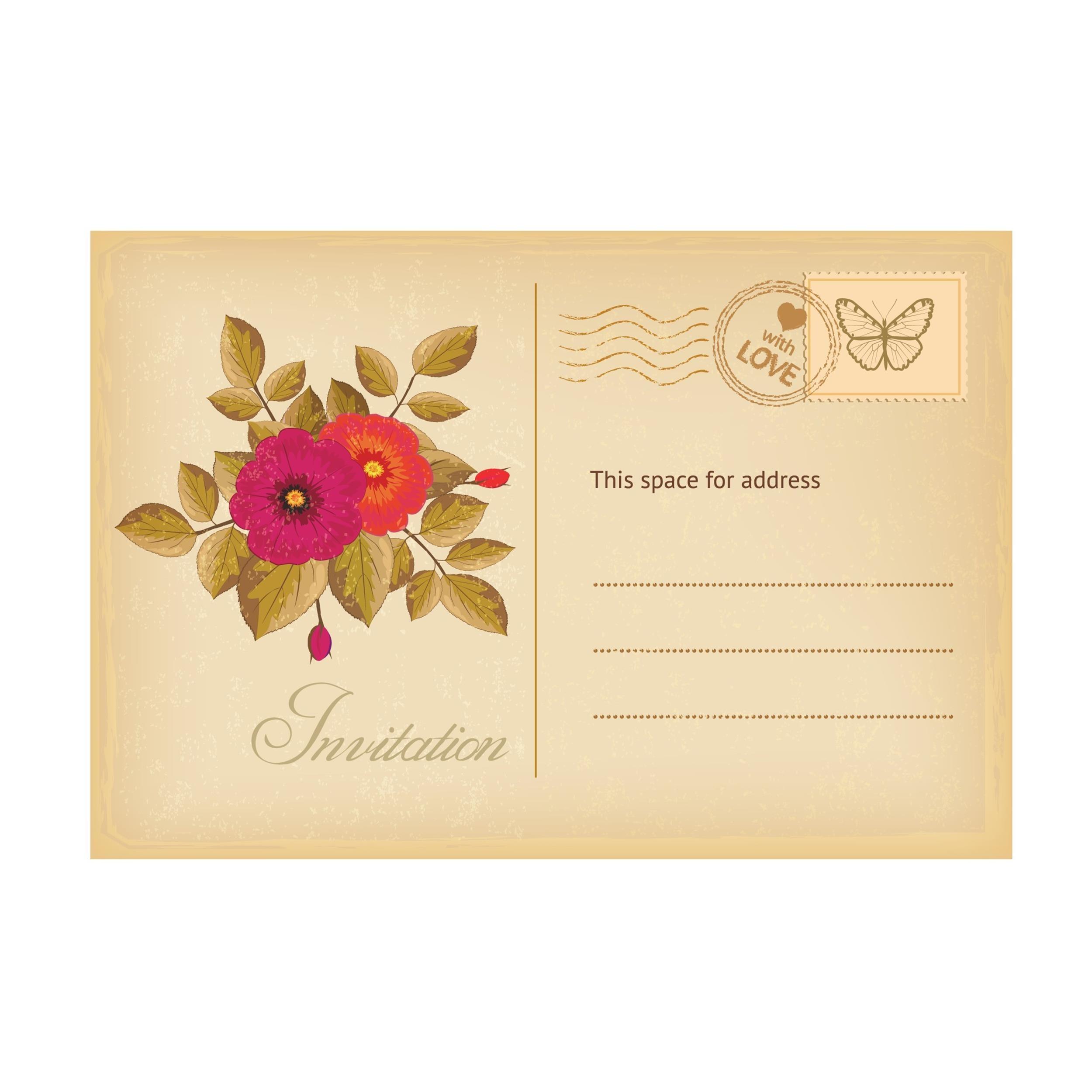 Free postcard template 35