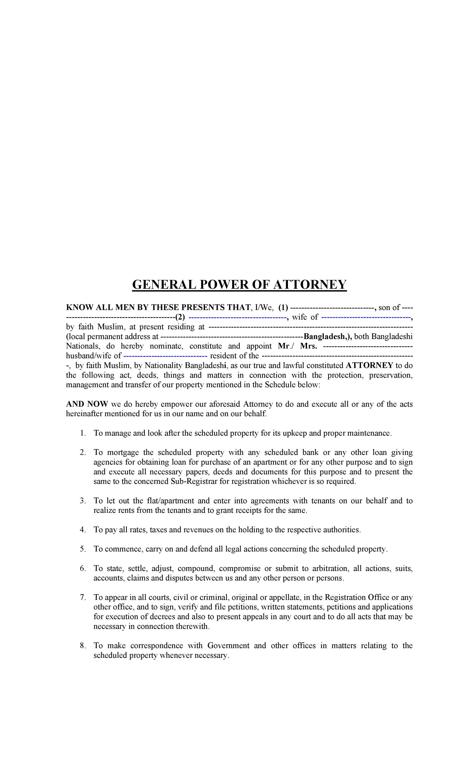 50 free power of attorney forms  u0026 templates  durable