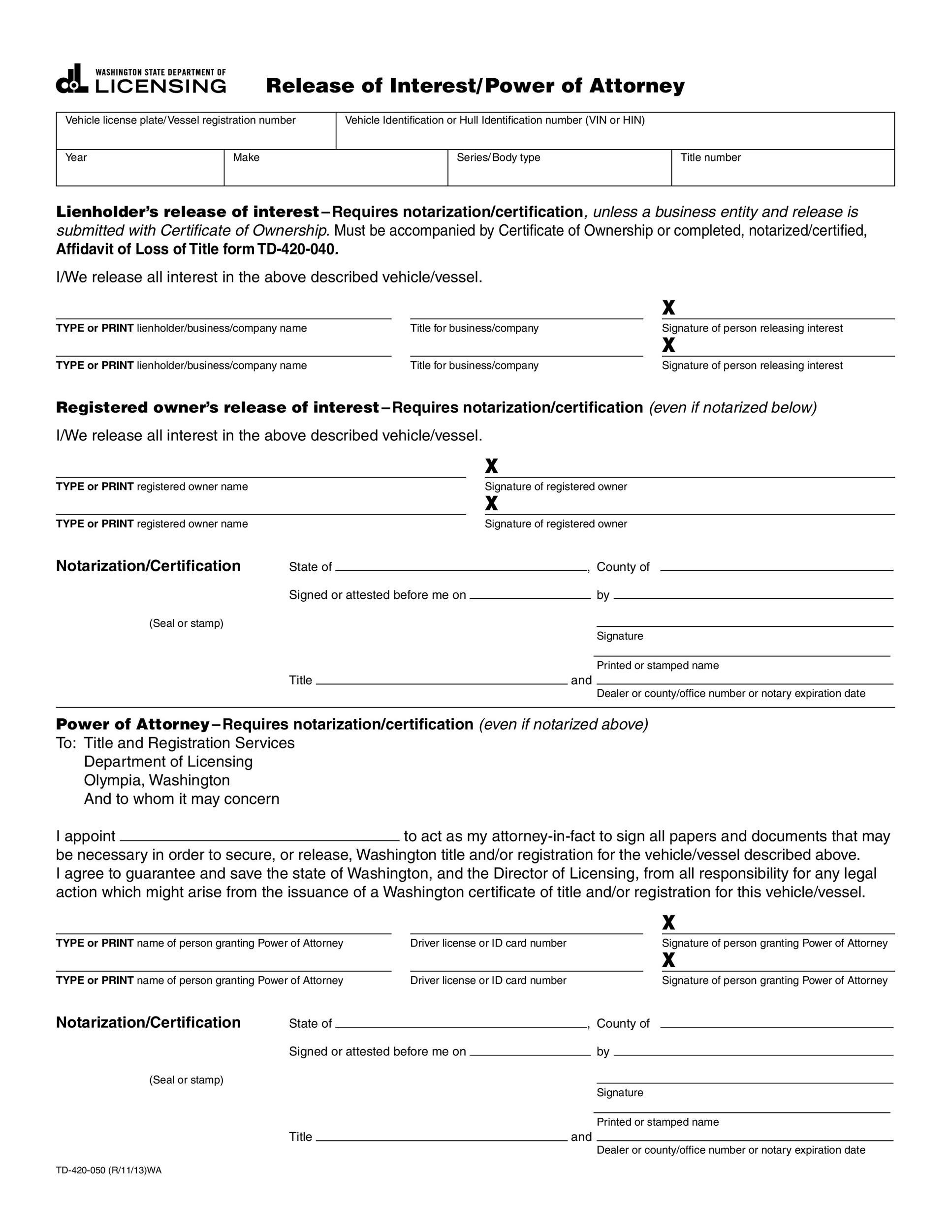 50 free power of attorney forms templates durable for Corporate power of attorney template